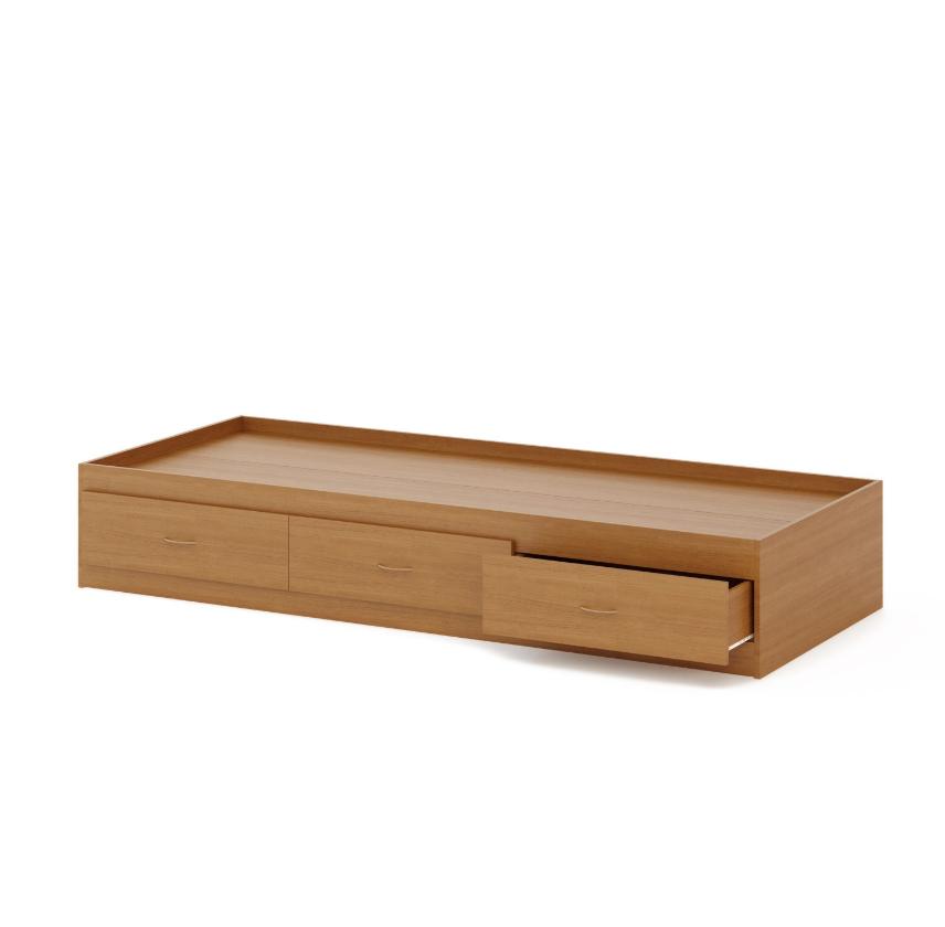 Кровать с ящиком (800) бук темный