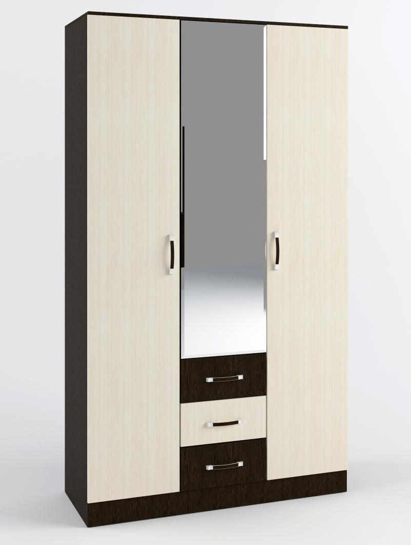 """Шкаф трехстворчатый для гостиной """"Яна"""" схема"""