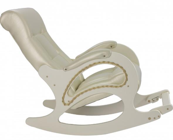 """Кресло-качалка """"Модель 44"""" белая береза/бежевый"""