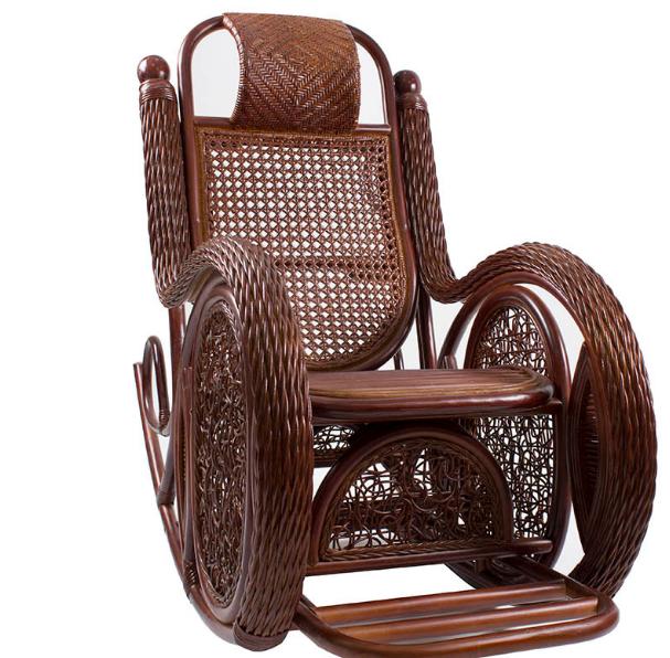 """Кресло-качалка """"Alexa (TWIST)"""" с подушкой коньяк"""