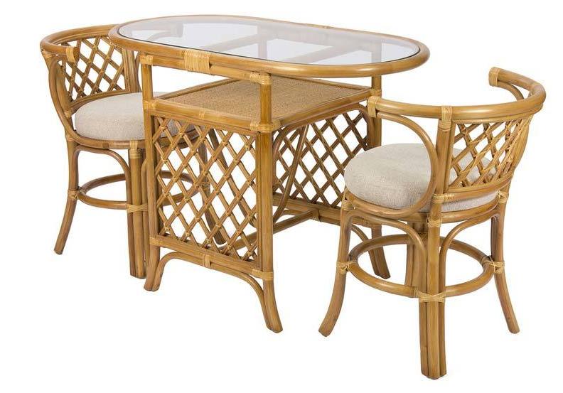 "Набор для завтрака ""Breakfast"" с подушками (2 стула, стол) мед"