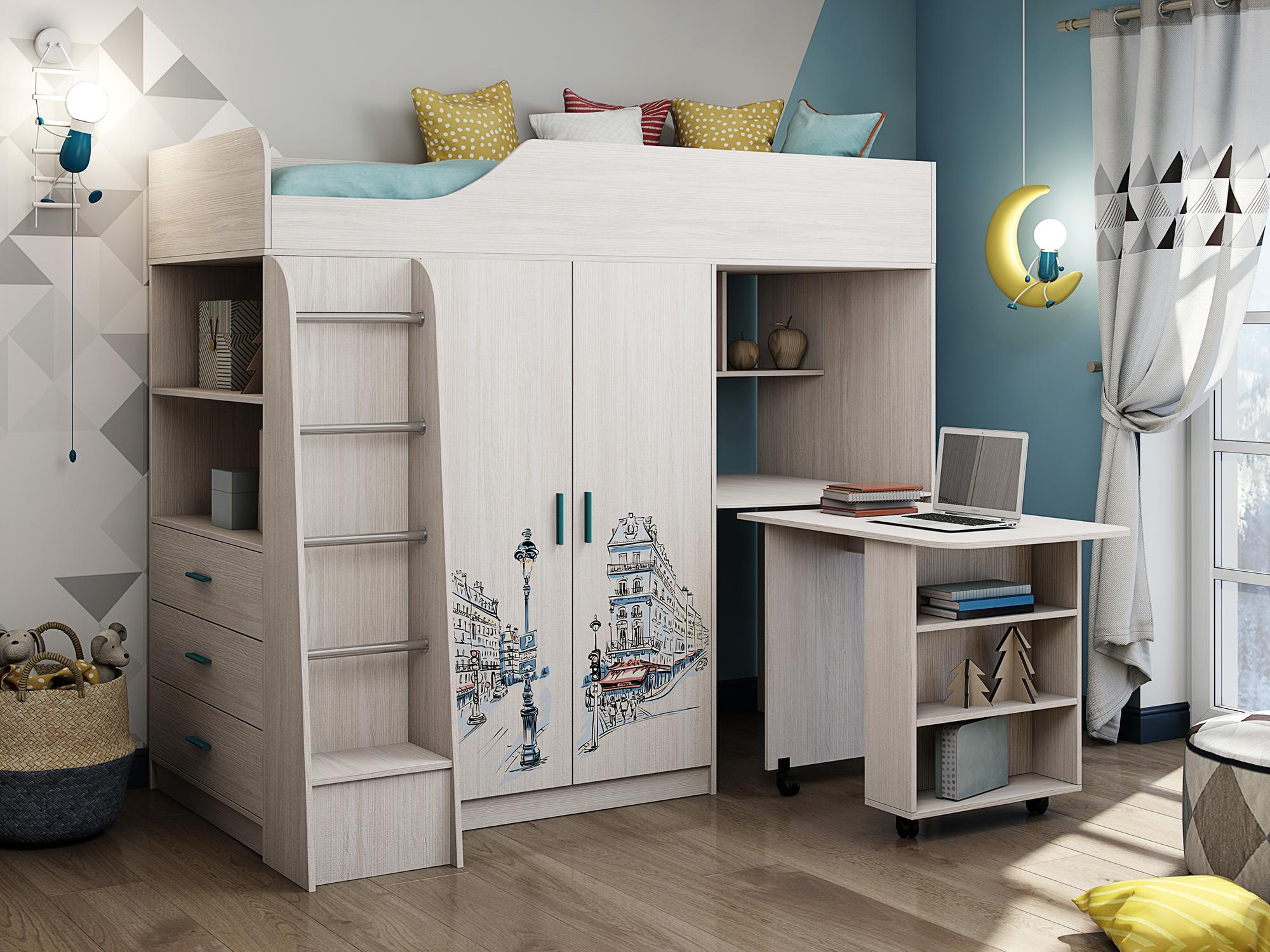 """Кровать с рисунком Париж """"Каприз-9"""""""