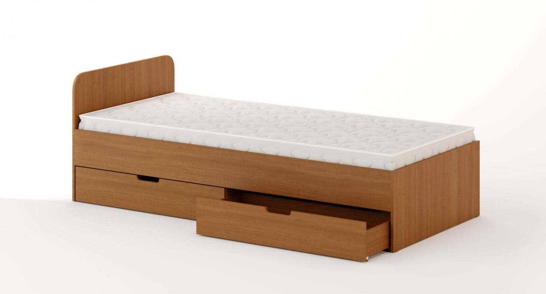 Кровать с ящиками (1200) бук темный