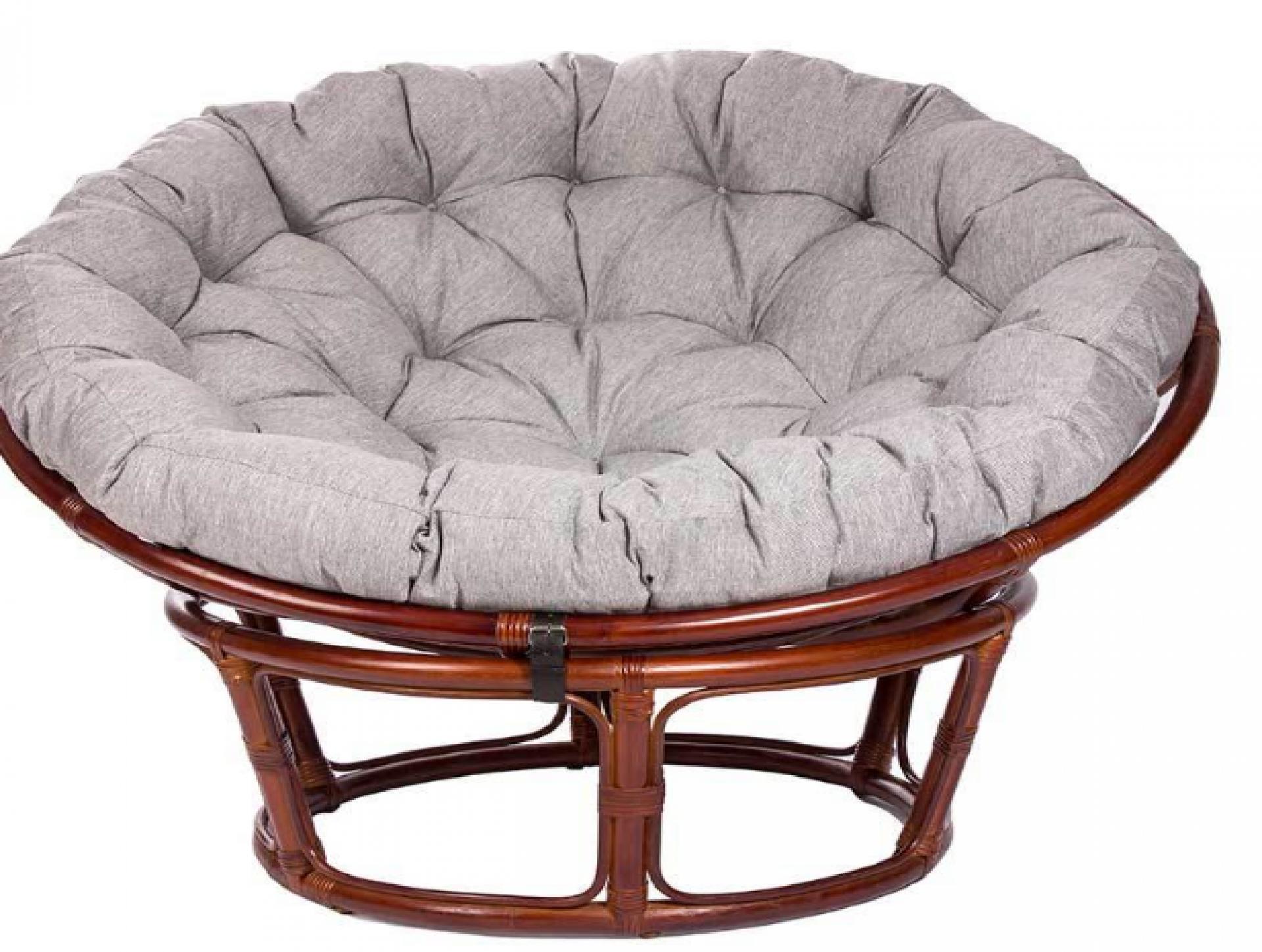 """Кресло-качалка """"Papasan CHAIR"""" с подушкой коньяк"""