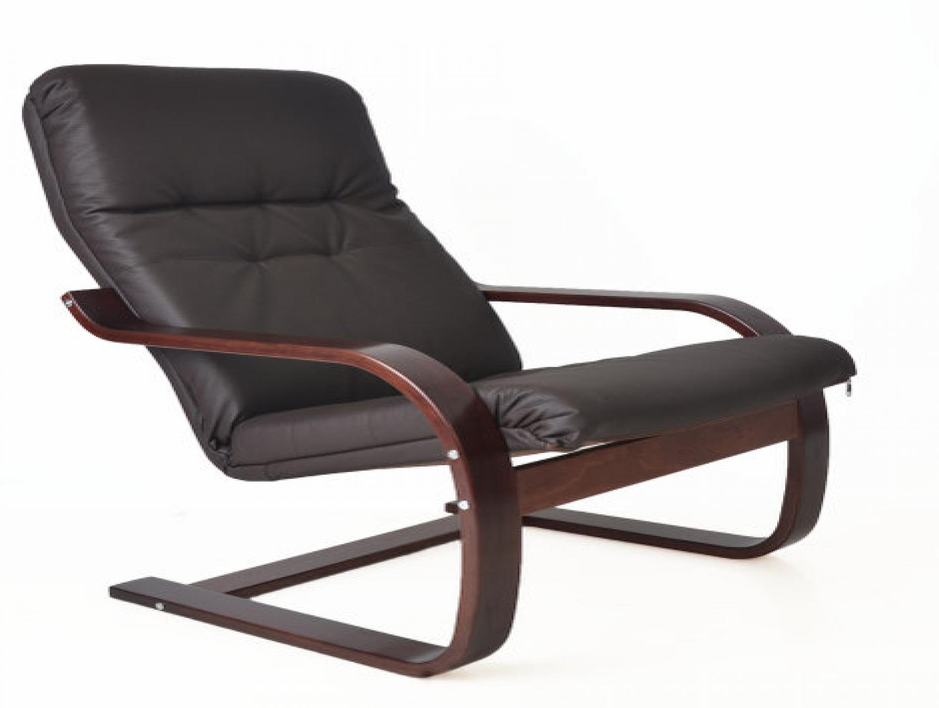 """Кресло для отдыха """"Сайма"""" вишня/кофе"""