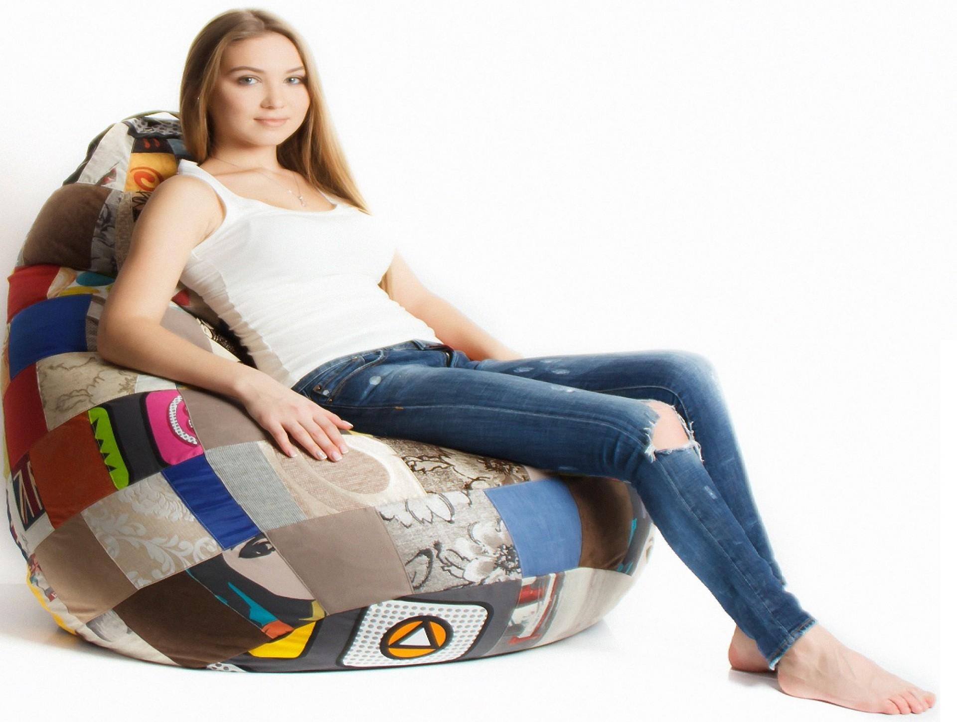 Кресло-мешок Пэчворк приобрести в Томске