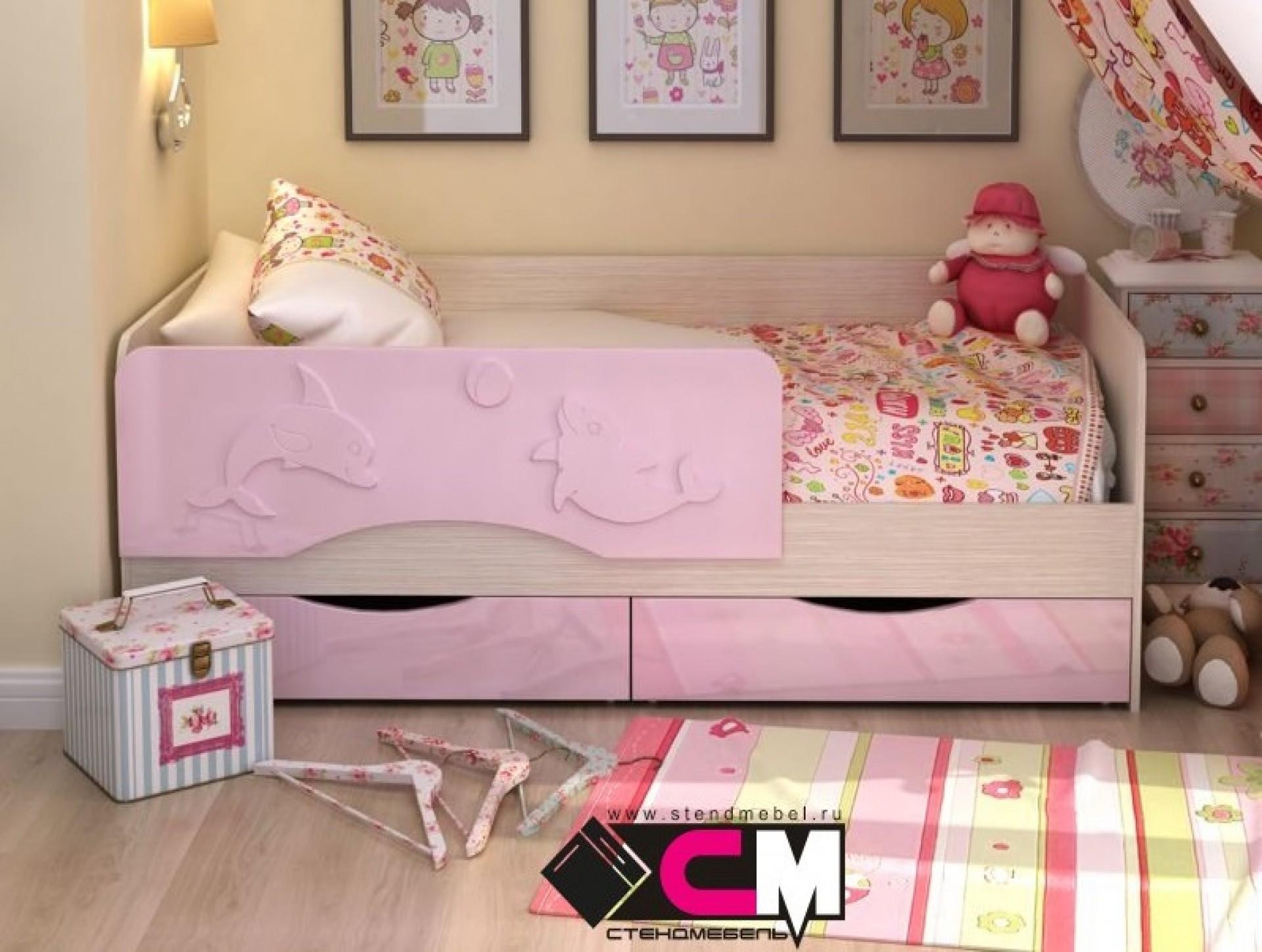 """Детская кровать """"АЛИСА"""" розовая"""