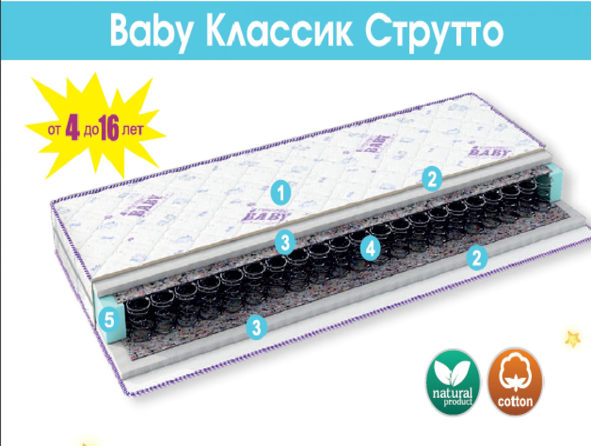 """Матрас детский """"Классик Струтто"""""""
