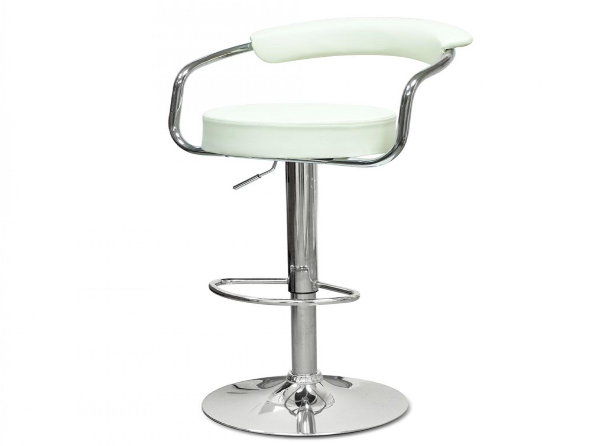 """Барный стул """"N-91 Orion"""" кремовая кожа"""