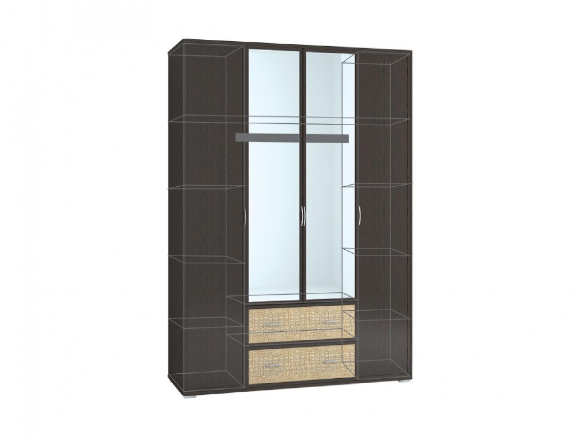 "Шкаф 4-створчатый с зеркалом ""Джульетта"""