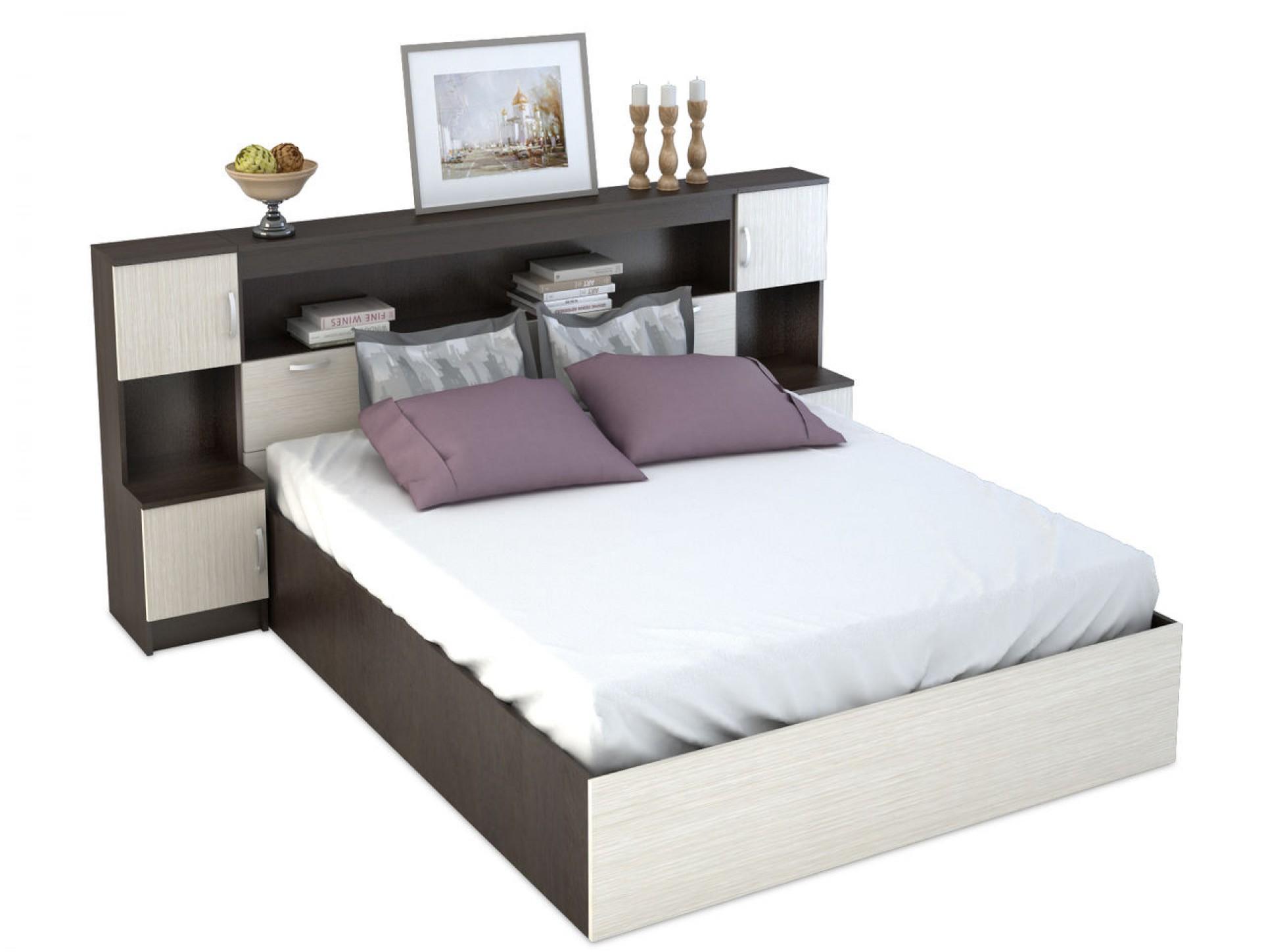 """Кровать с прикроватным блоком спальня """"Бася"""""""