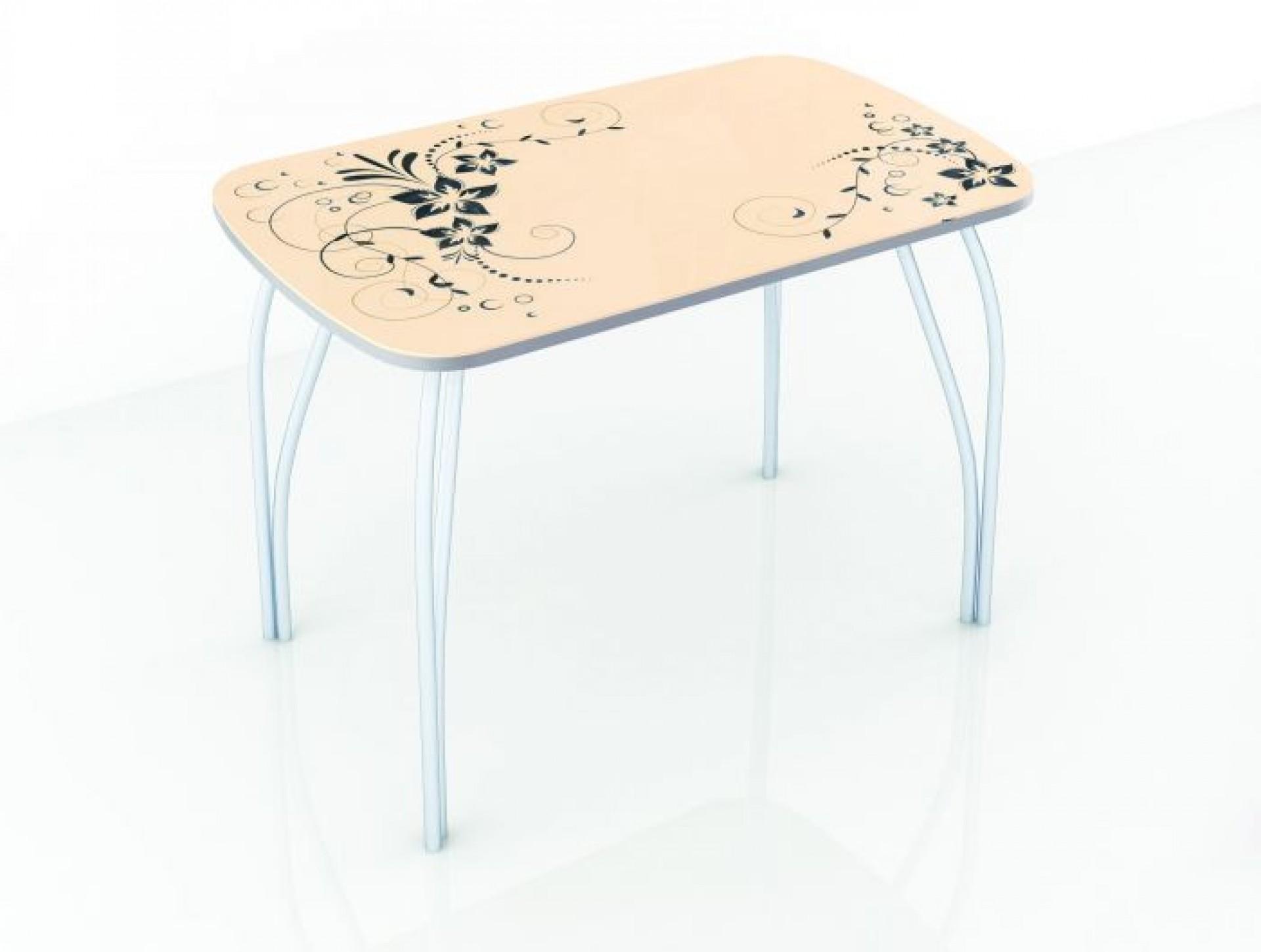 """Стол обеденный со стеклом """"Лотос"""" 1100*700"""