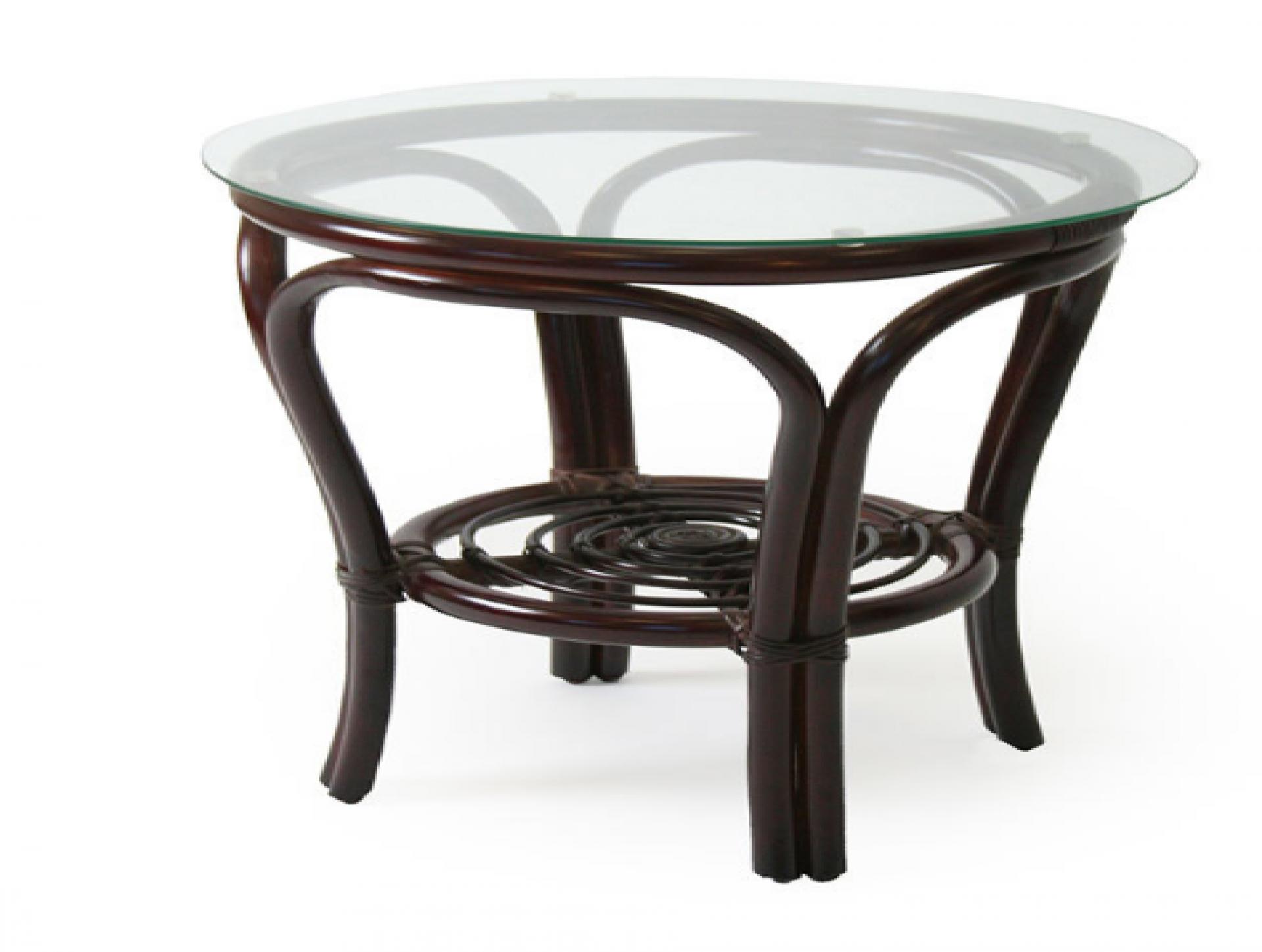 """Журнальный столик """"Bali """" со стеклом орех"""