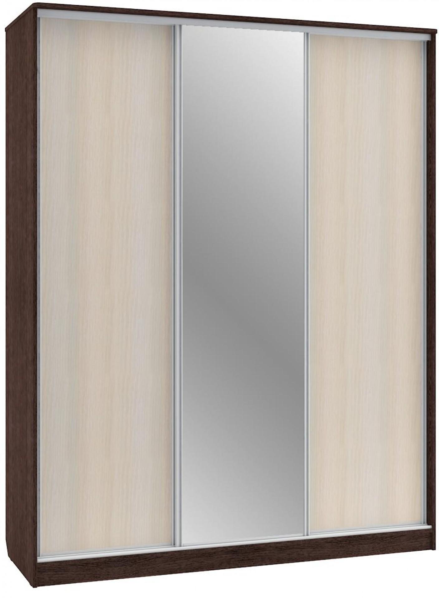 """Шкаф-купе """"ШК 3 (AL) 1800*450"""" ЛДСП+зеркало"""