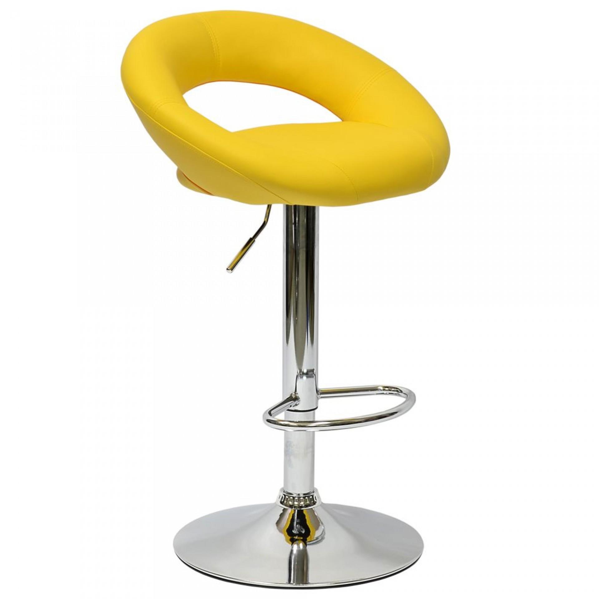 """Барный стул """"N-84 Mira"""" желтая кожа"""