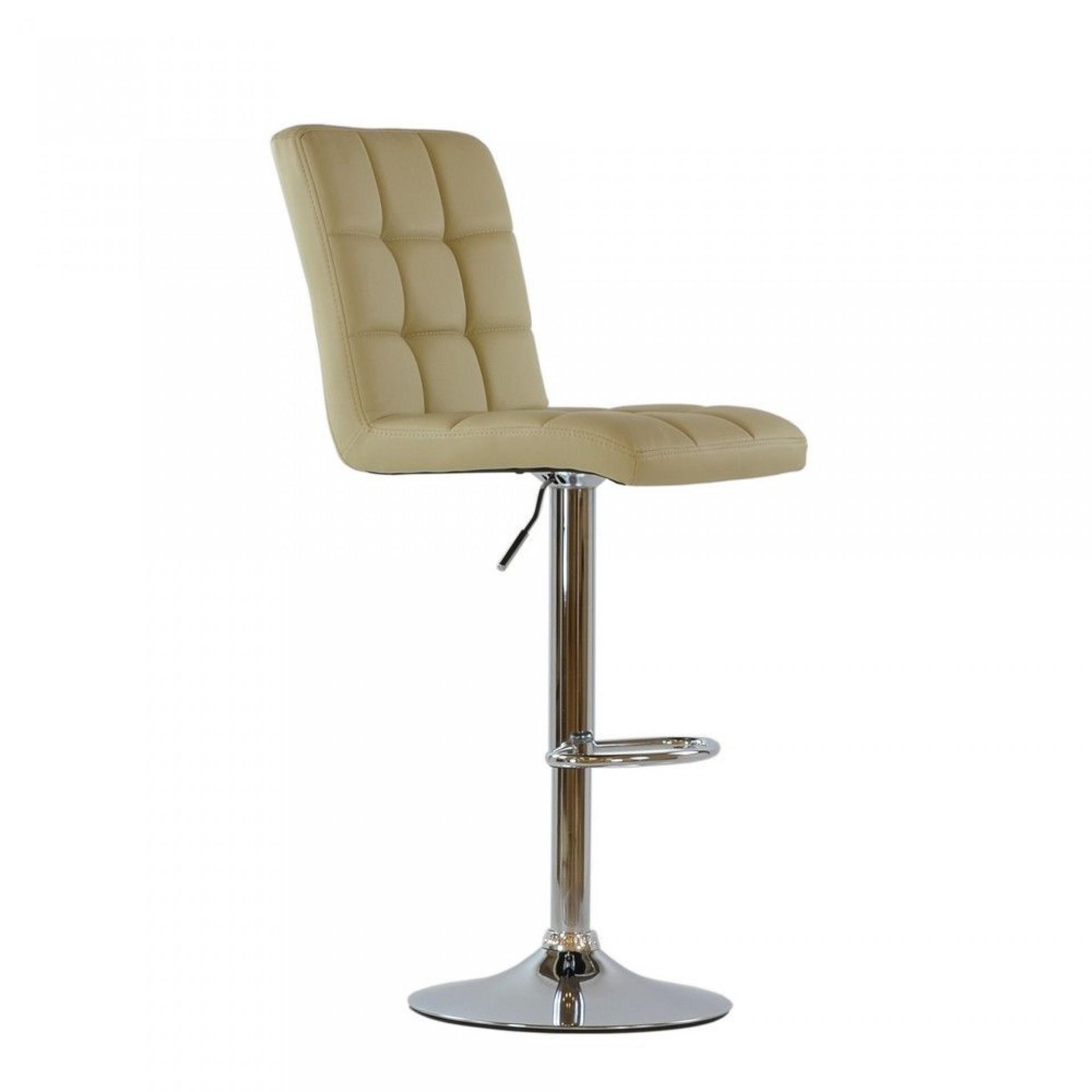"Барный стул Barneo ""N-48 Kruger"" бежевая кожа"