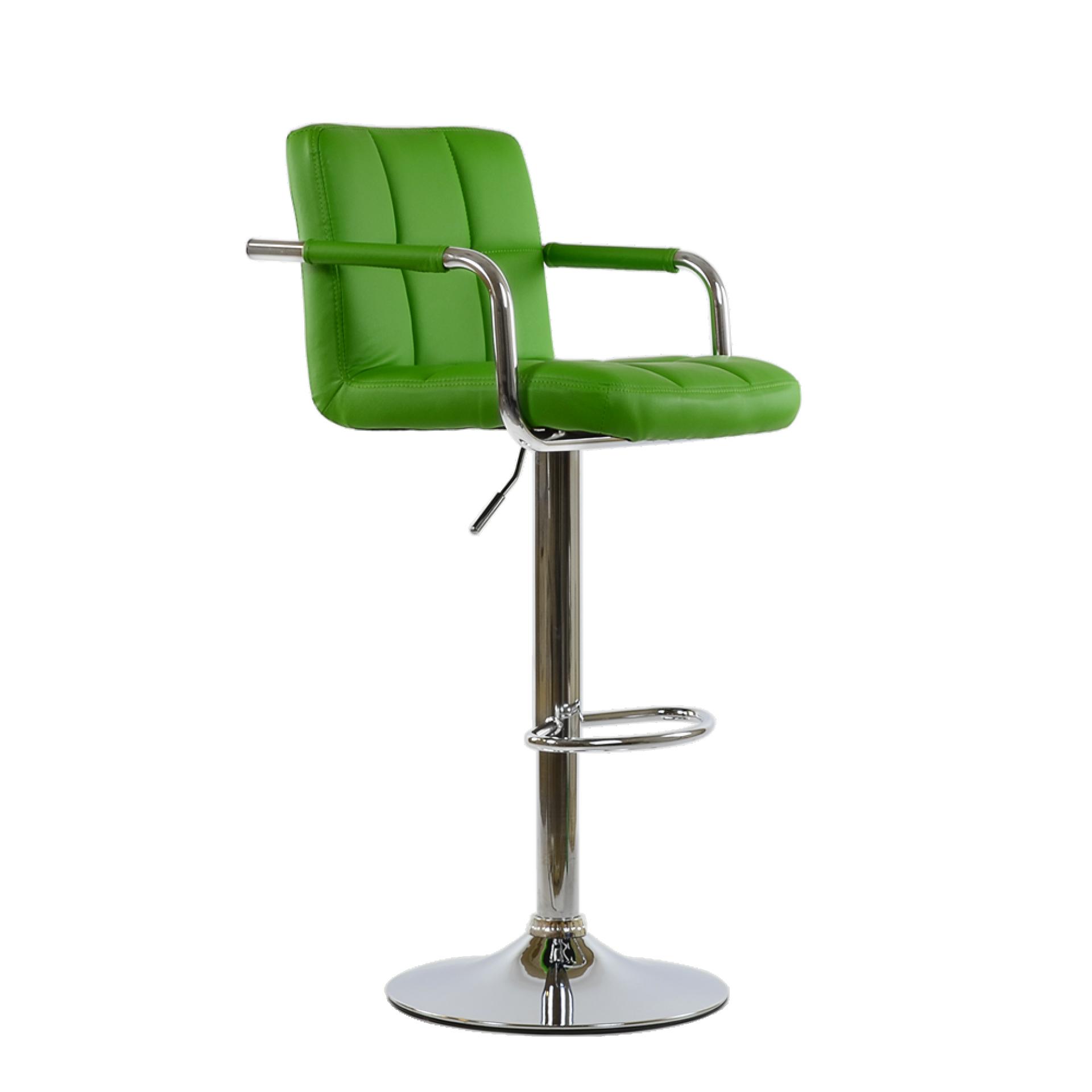 """Барный стул """"N-69 Kruger Arm"""" зеленая кожа"""