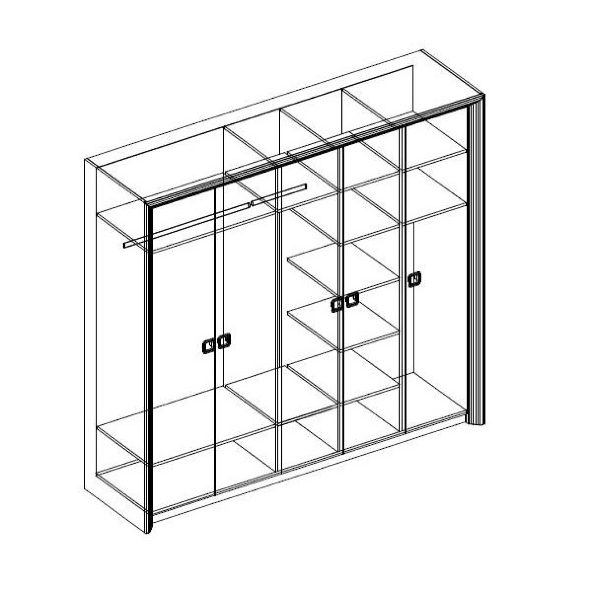 """Шкаф 5-и дверный """"Домино"""""""