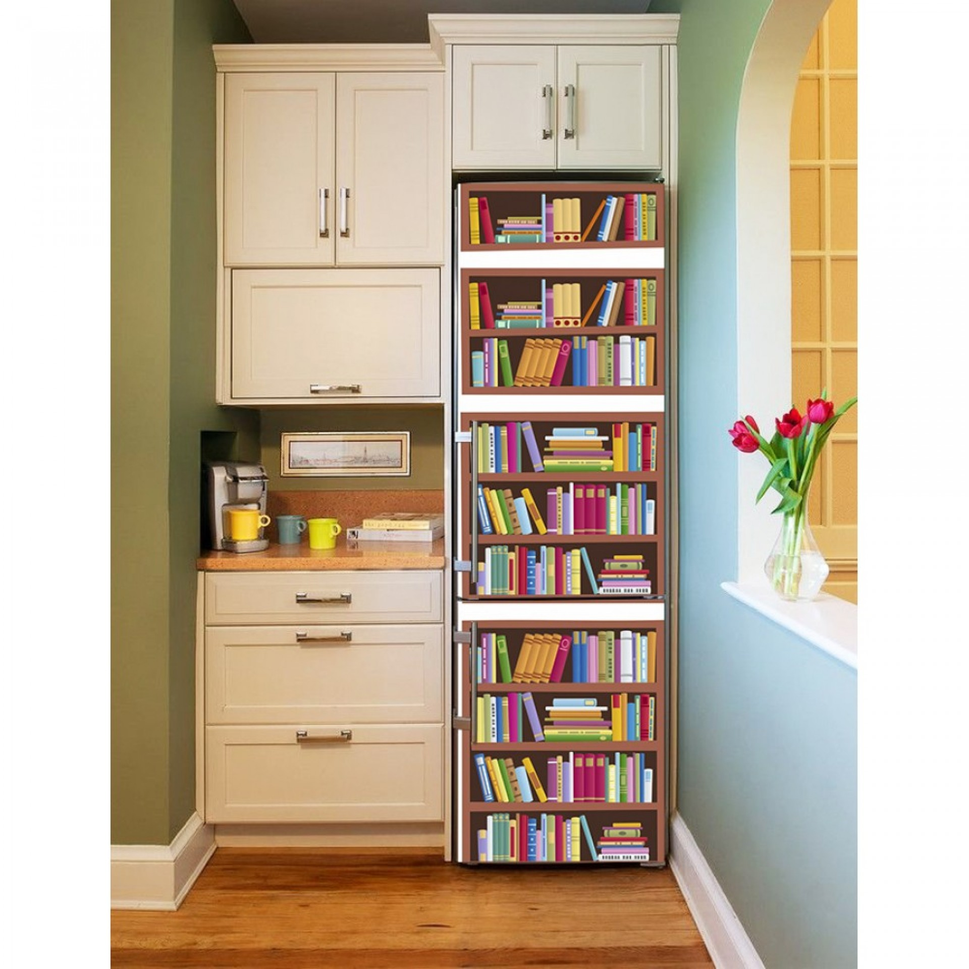 """Магнитное полотно на холодильник """"Книжный шкаф""""  МП458"""