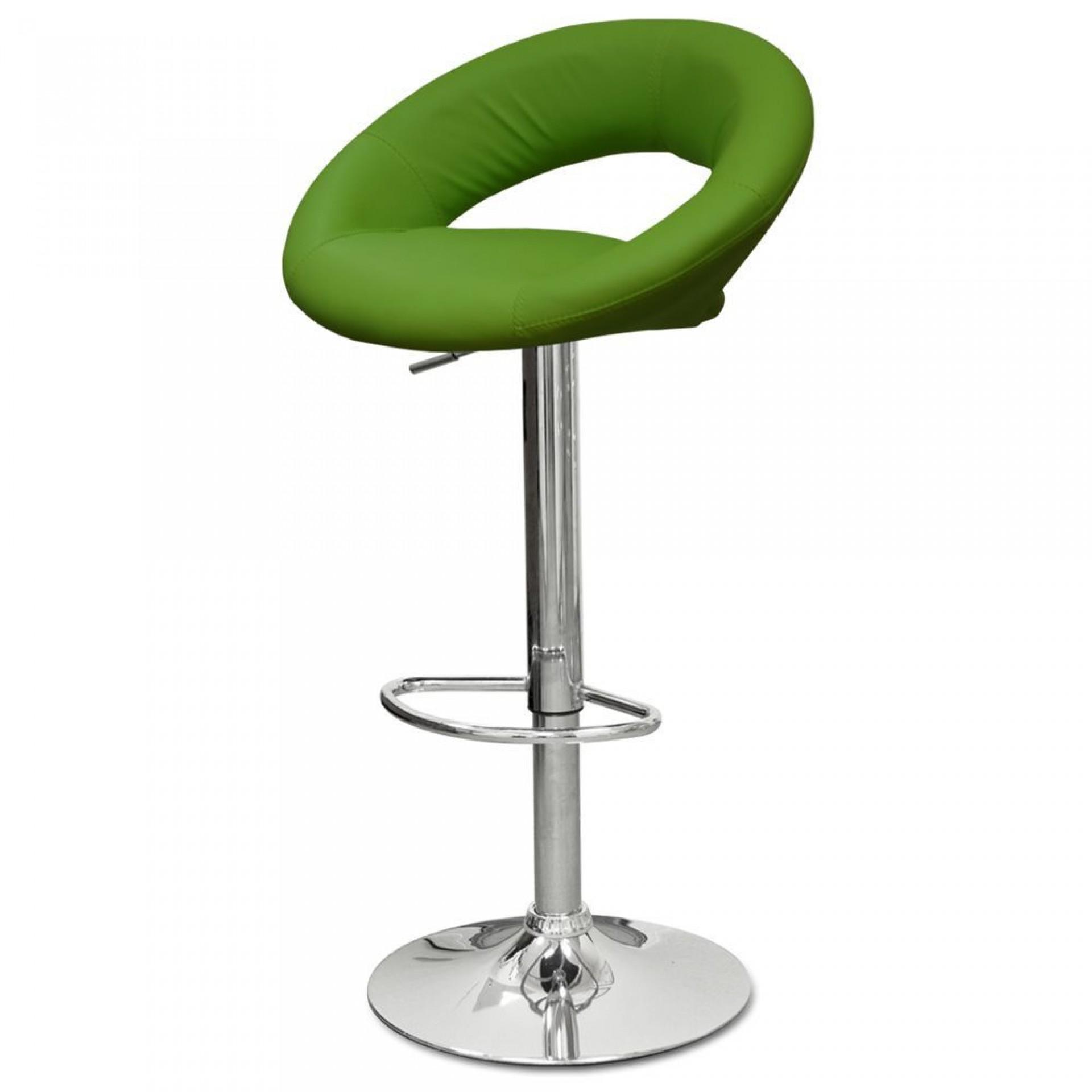 """Барный стул """"N-84 Mira"""" зеленая кожа"""