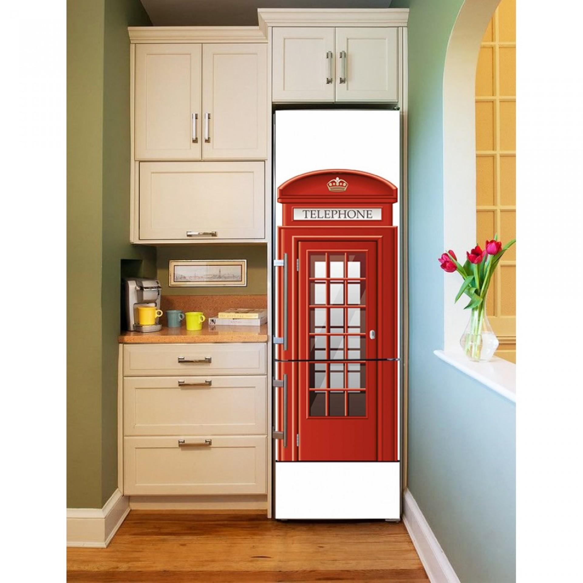 """Магнитное полотно на холодильник """"Телефонная будка""""  МП457"""