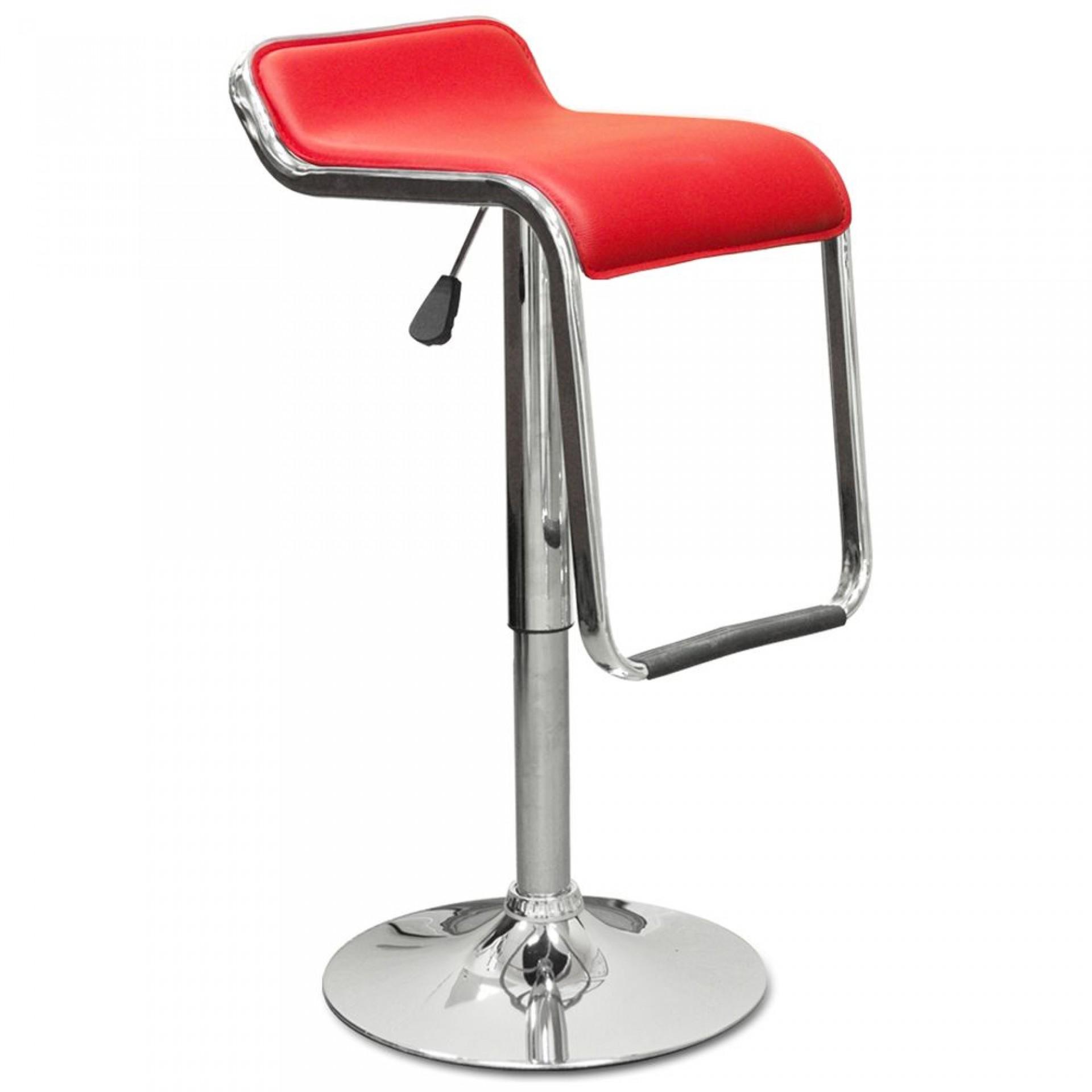 """Барный стул """"N-41 Lem"""" красная кожа"""
