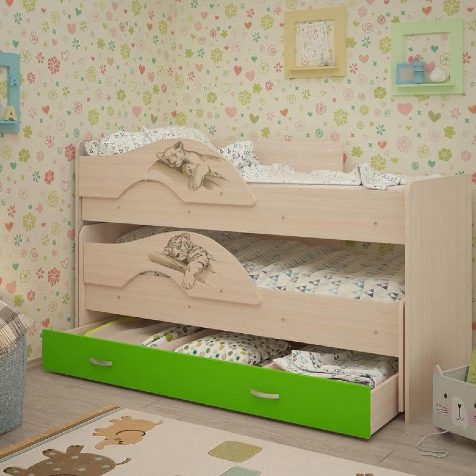 """Детская кровать """"Радуга-Сафари 1600"""""""