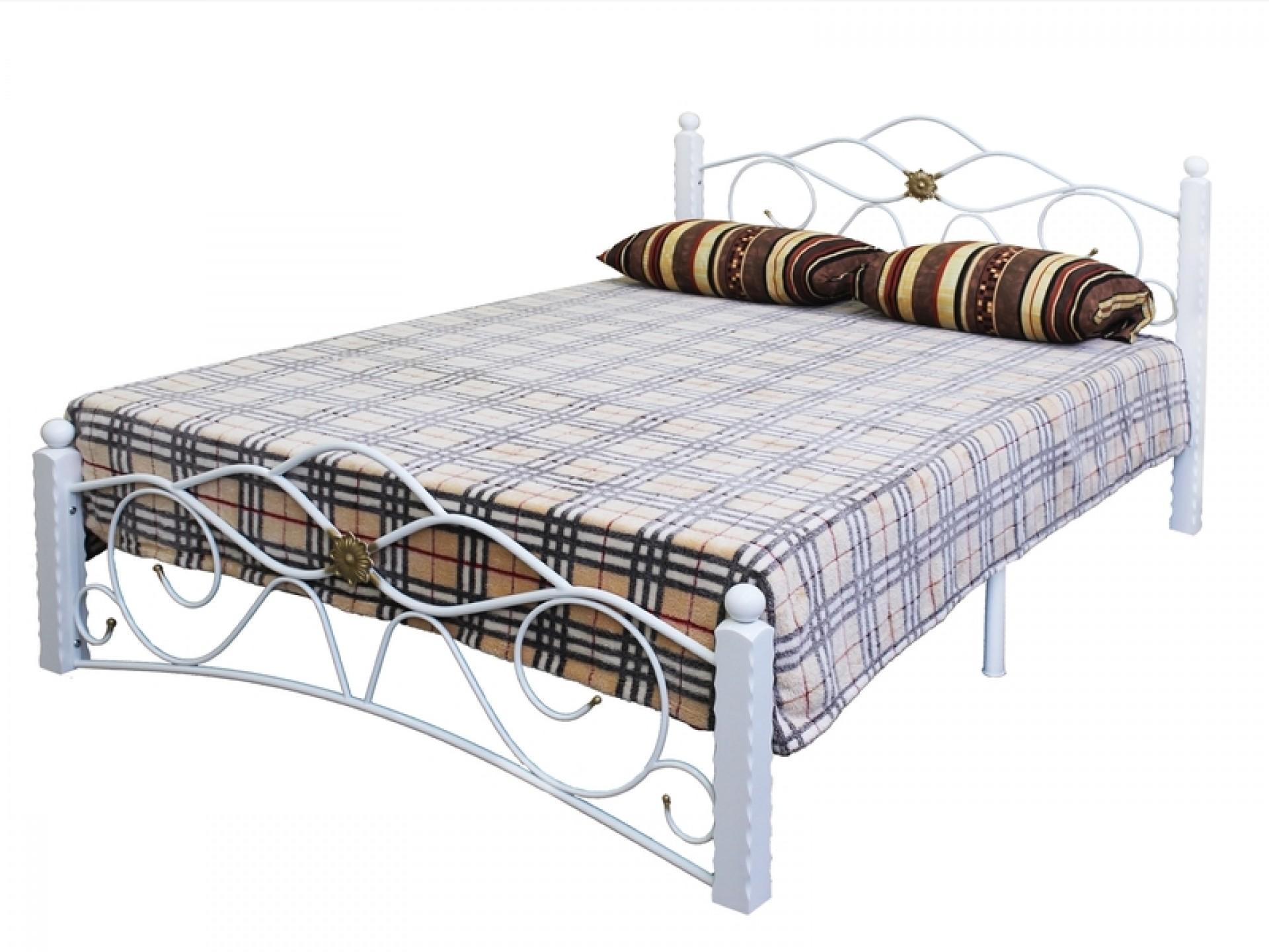 """Кровать """"Гарда-3"""" на металлокаркасе(белый)"""
