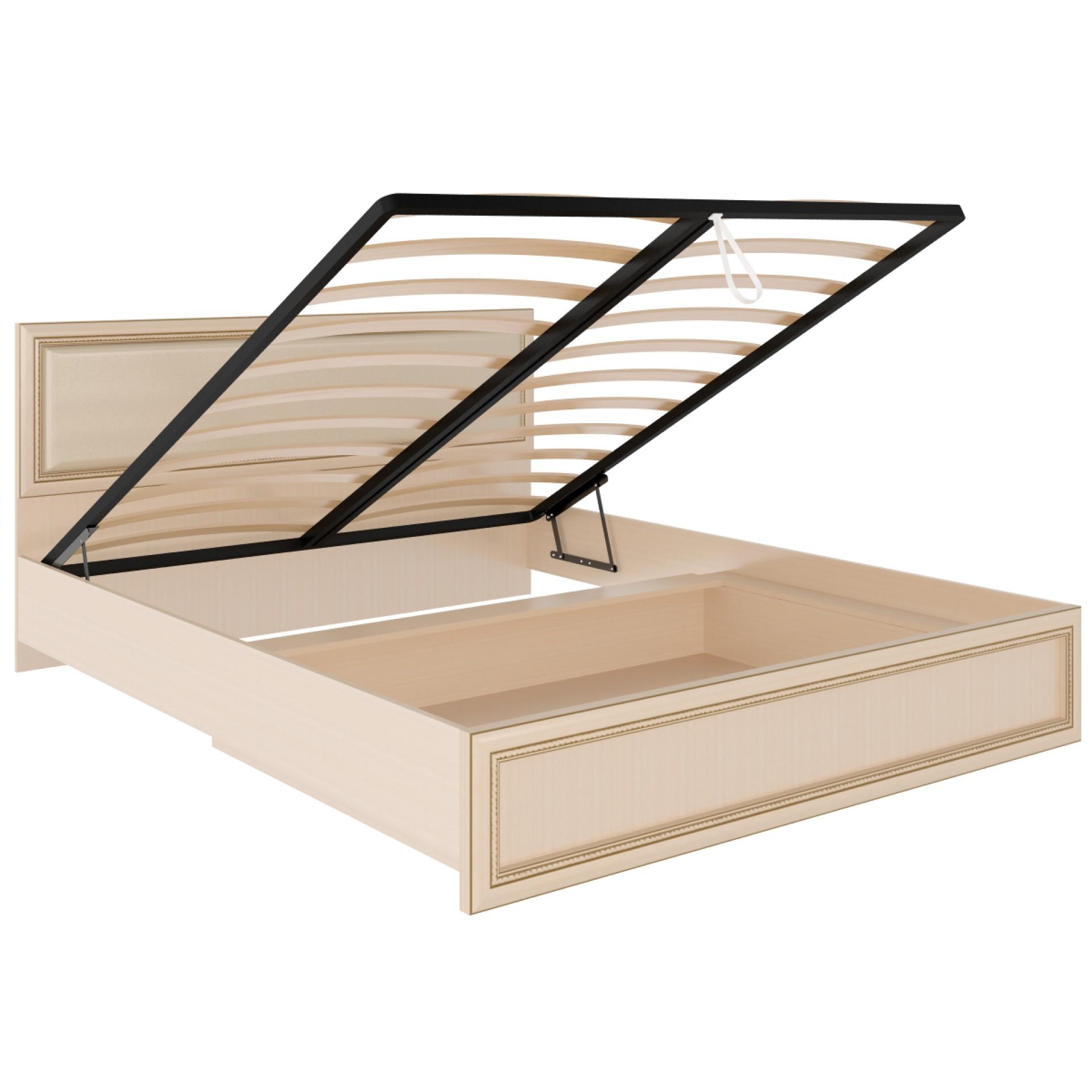 """Кровать 1,6 """"Беатрис"""" с подъемным механизмом  и мягкой спинкой М11"""