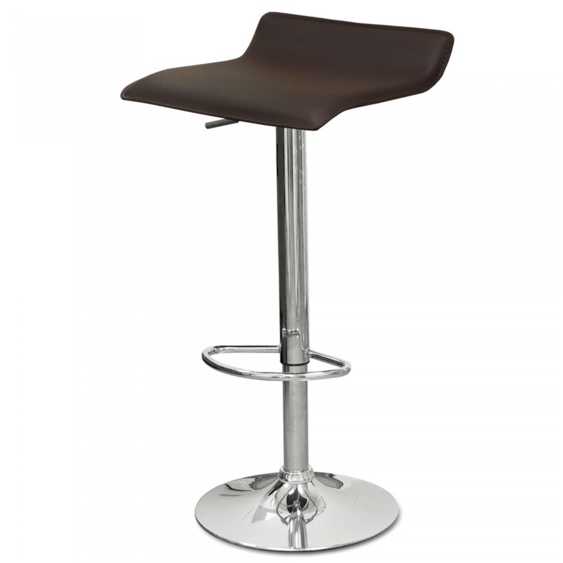 "Барный стул ""N-38 Latina"" коричневая кожа"