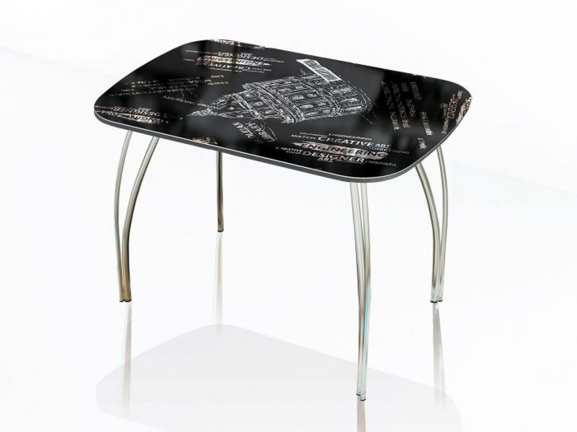 """Стол обеденный со стеклом """"Агат"""" 1200*800"""
