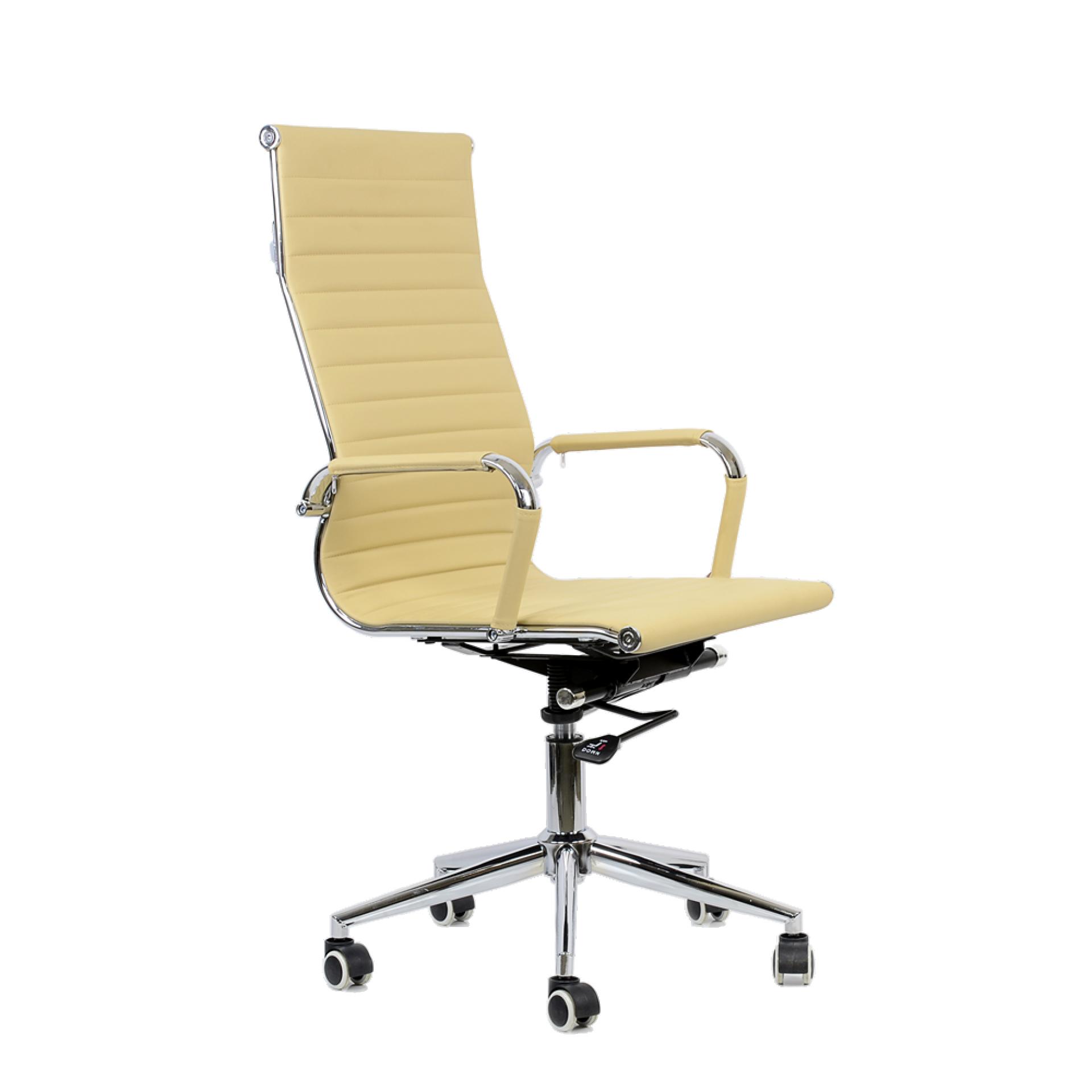 """Кресло """"K-110"""" для персонала бежевая кожа"""