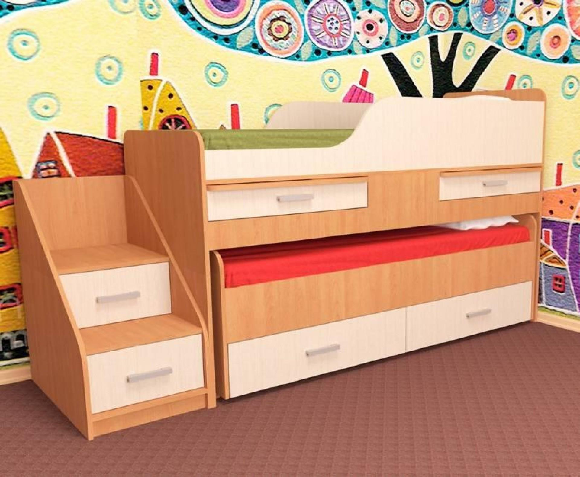 """Кровать детская двухместная """"Лесики"""""""