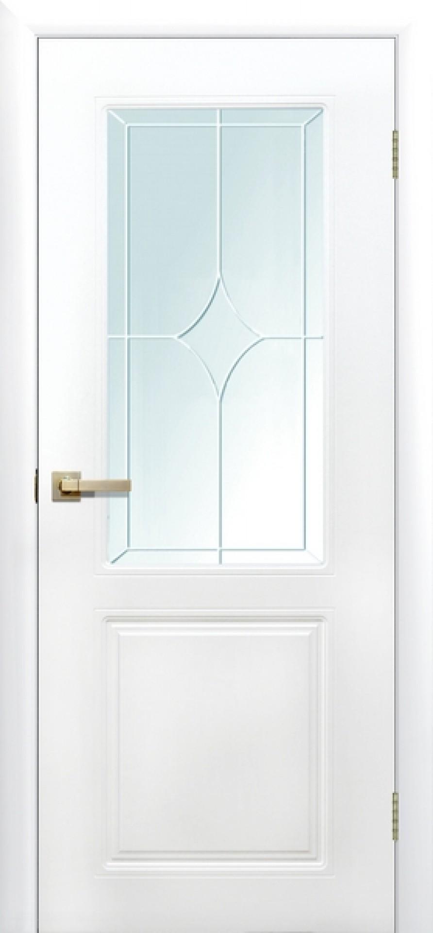 """Двери с покрытием ПВХ """"Квартет"""" со стеклом"""
