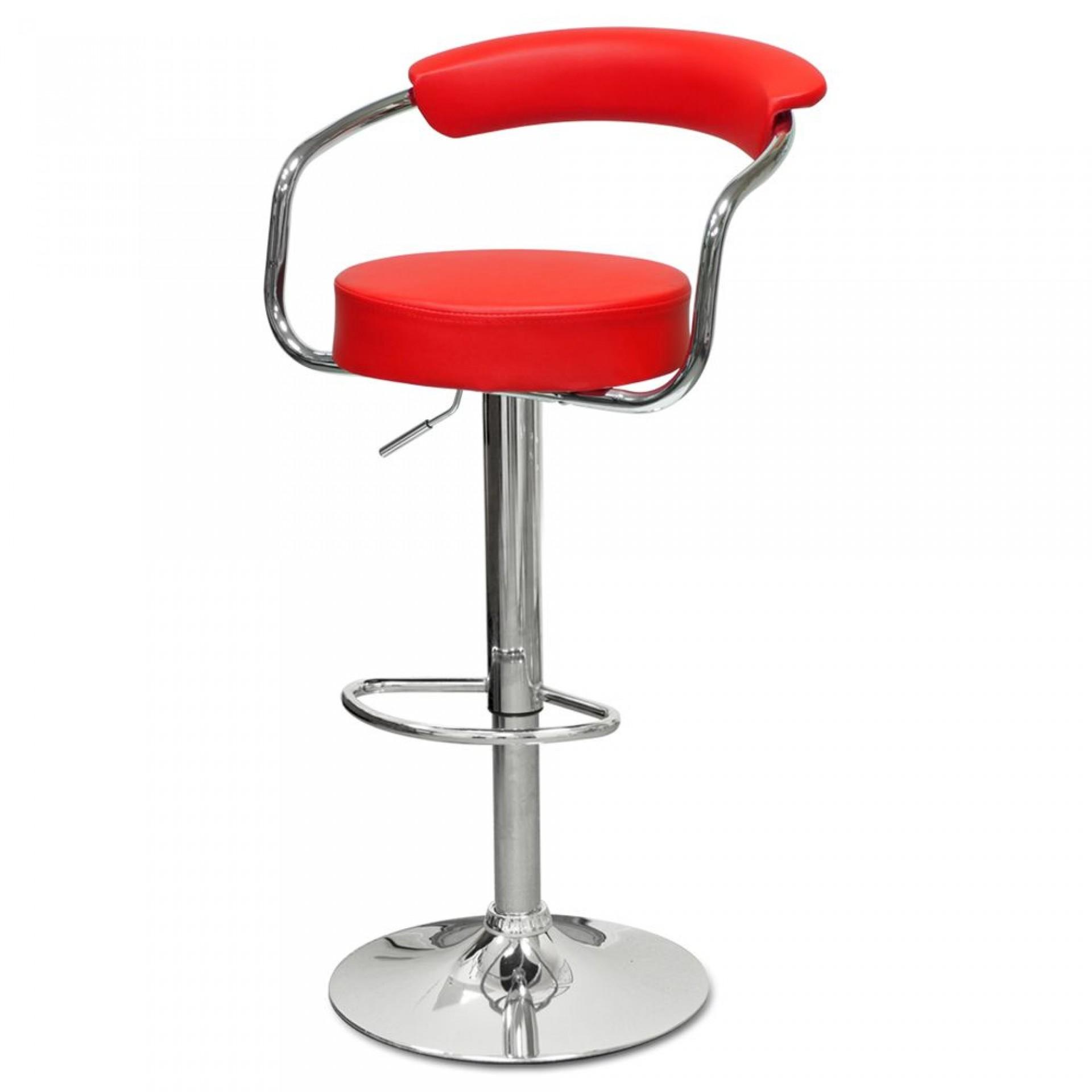 """Барный стул """"N-91 Orion"""" красная кожа"""