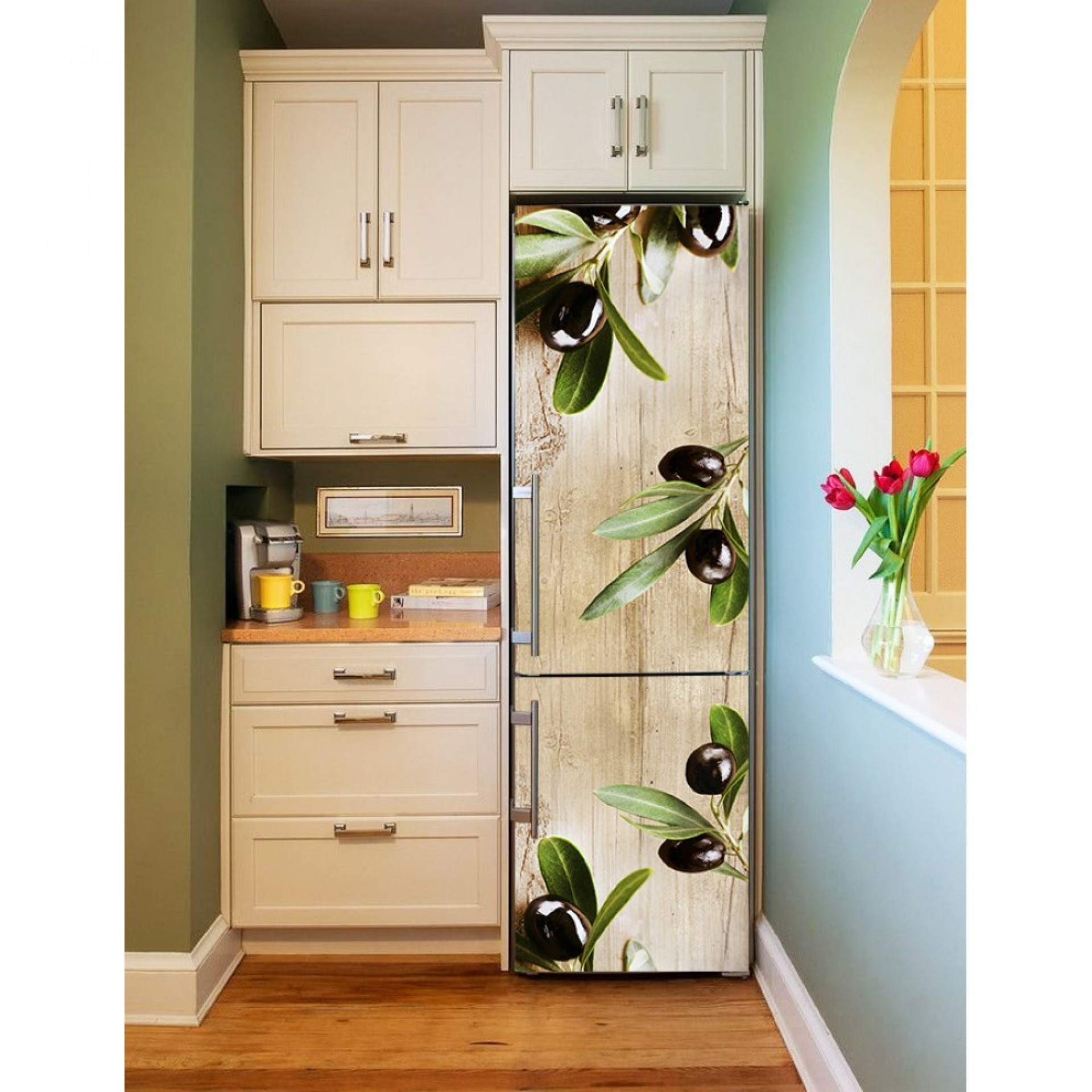 """Магнитное полотно на холодильник """"Ветви оливы"""" МП465"""