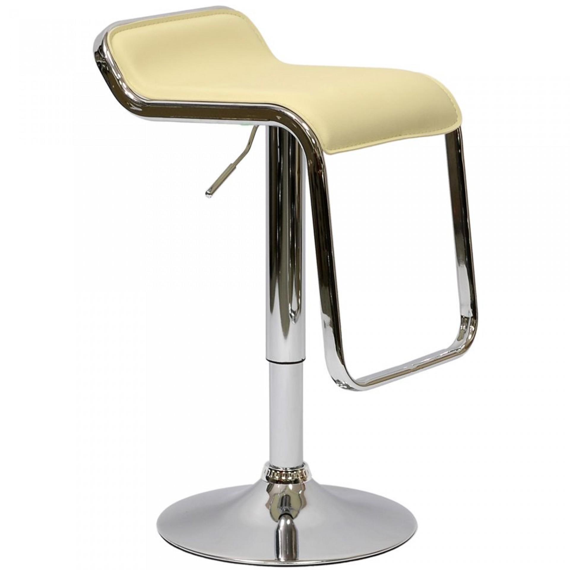 """Барный стул """"N-41 Lem"""" кремовая кожа"""