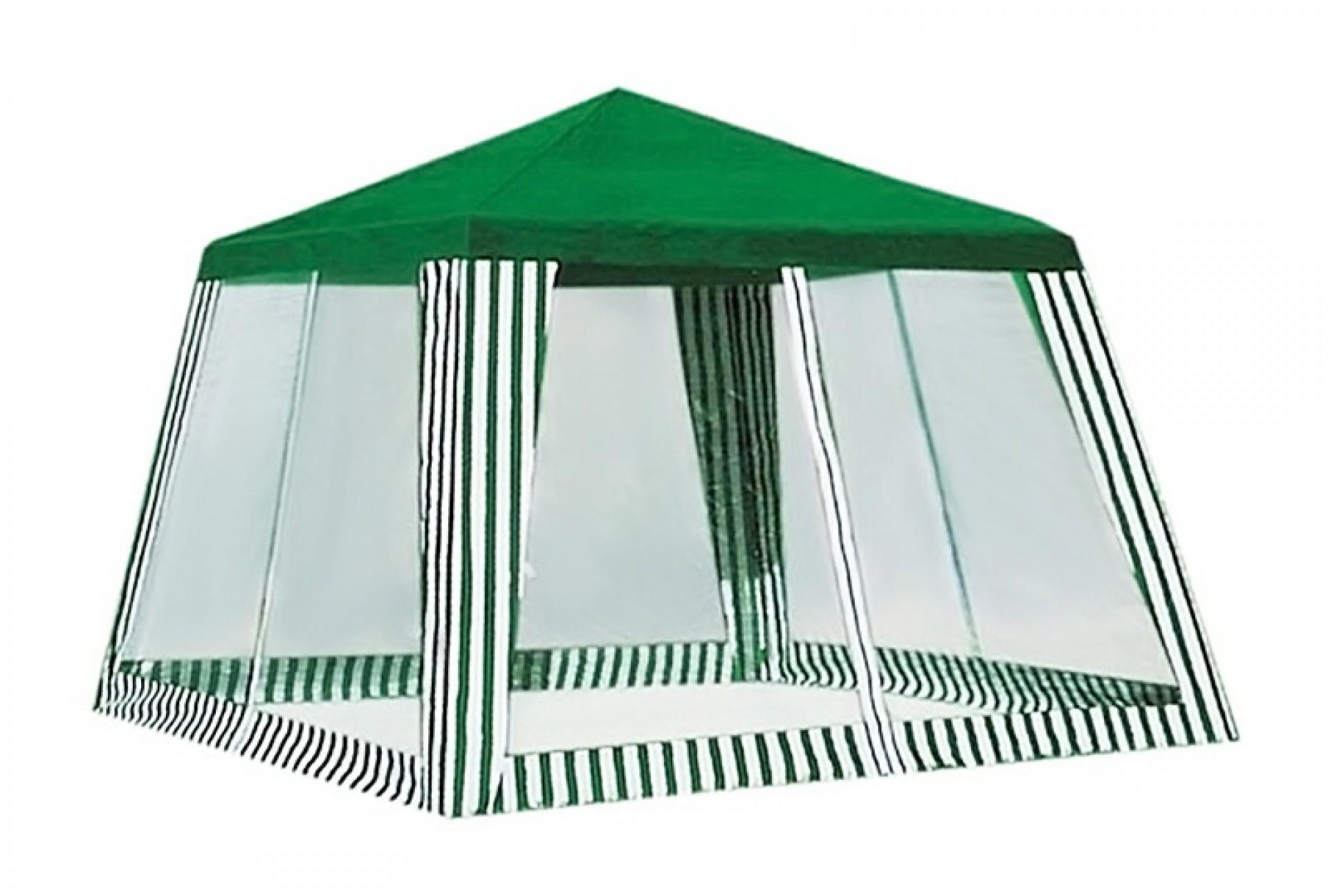 Тент-шатер садовый с антимоскитной сеткой 3*2,4*2,4 м