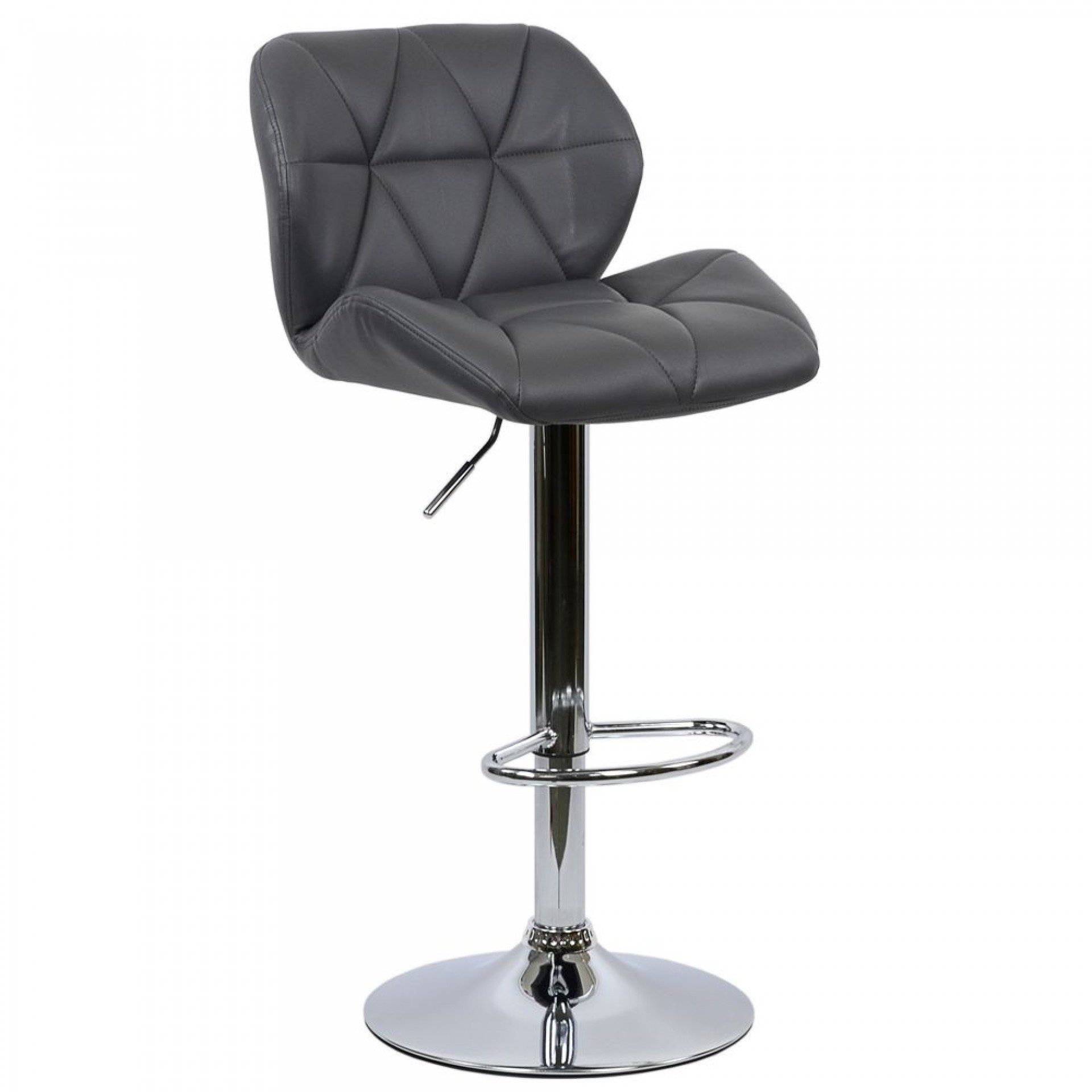 "Барный стул ""N-85"" Diamond серая кожа"