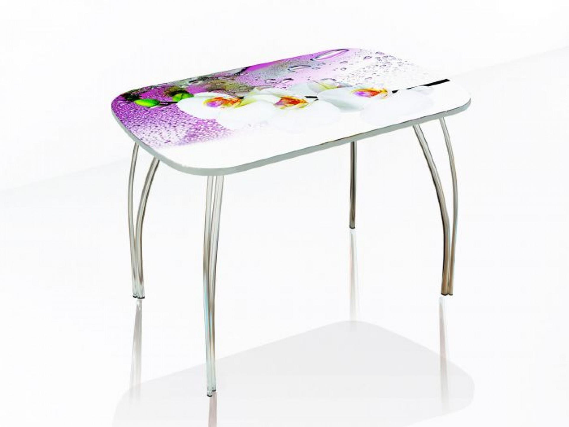 """Стол обеденный со стеклом """"Агат"""" 1100*700"""
