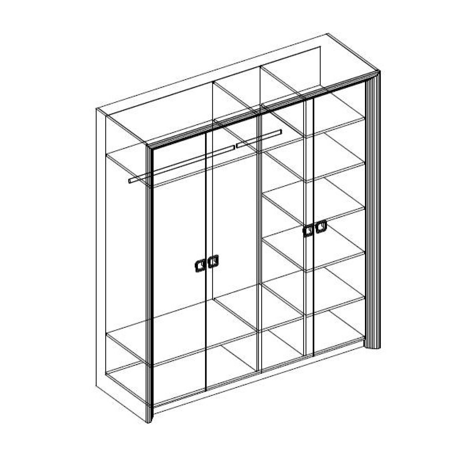 """Шкаф 4-х дверный """"Домино"""""""
