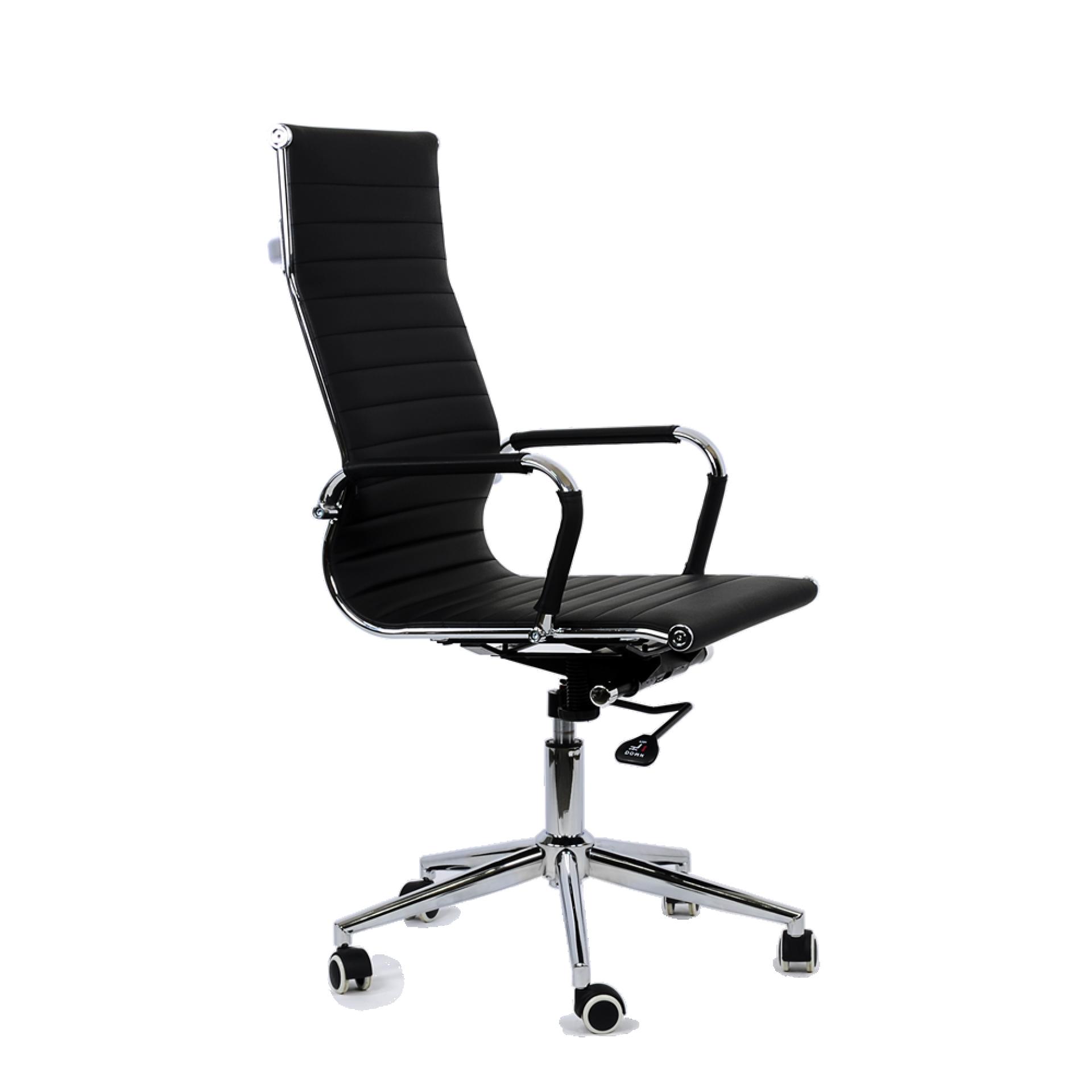 """Кресло """"K-110"""" для персонала черная кожа"""