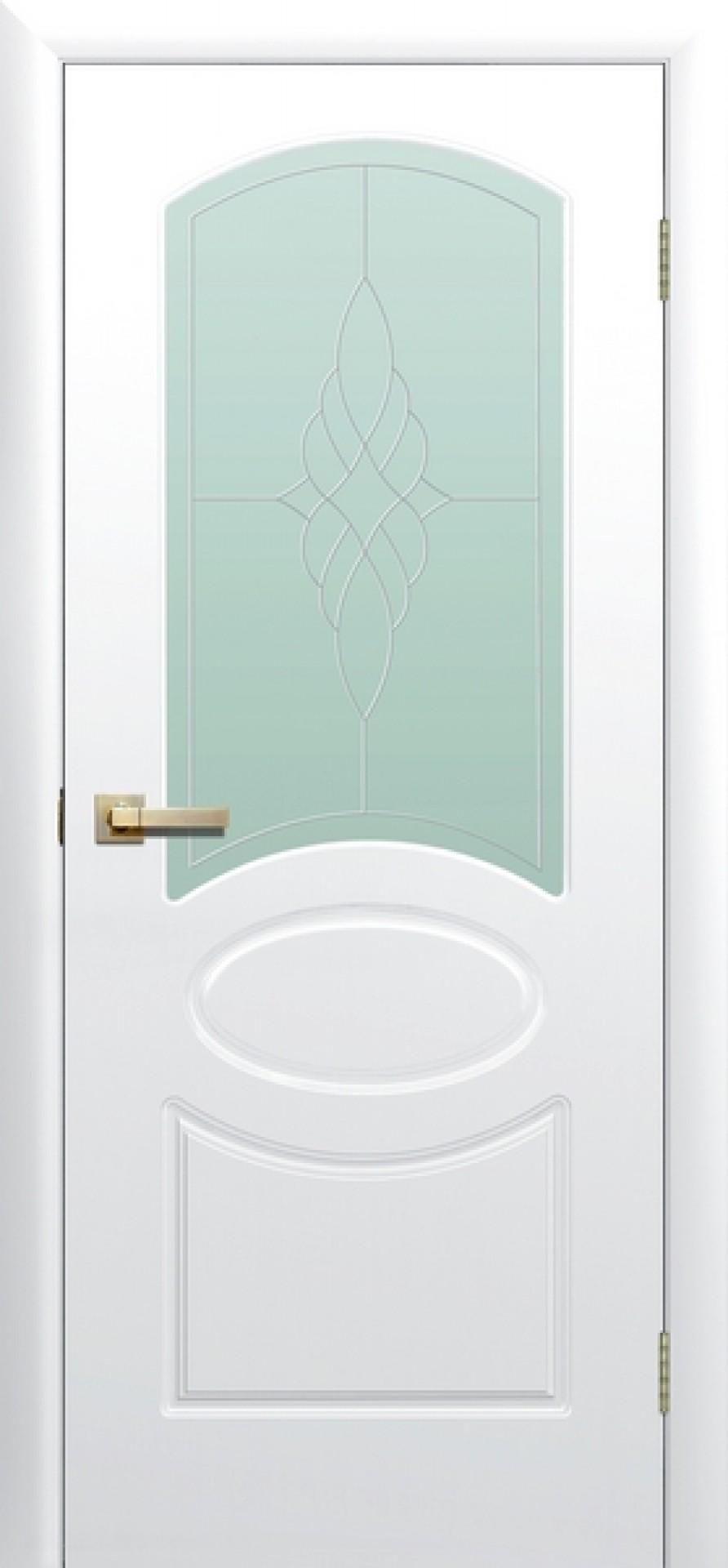 """Двери с покрытием ПВХ """"Соната"""" со стеклом"""