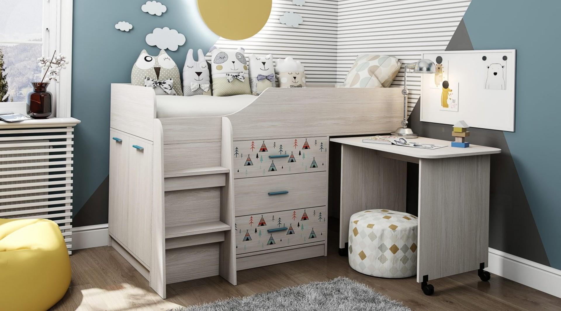 """Кровать с рисунком Виг-вам """"Каприз-5"""""""