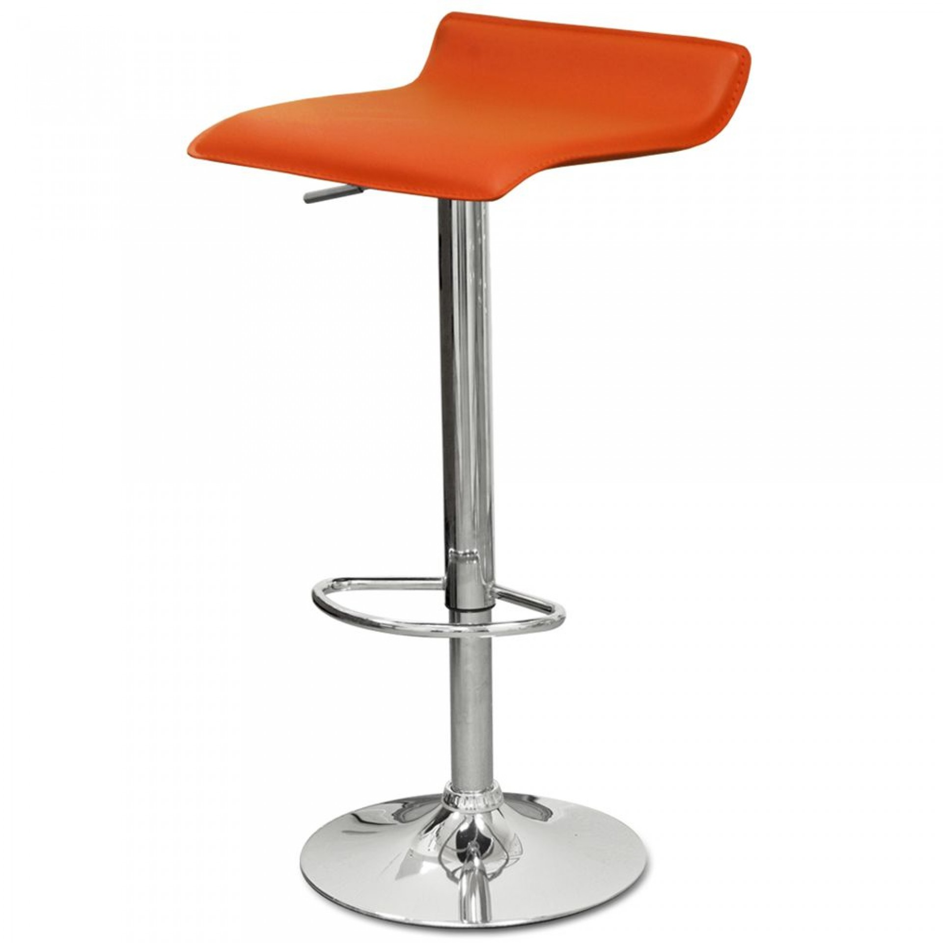 """Барный стул """"N-38 Latina"""" оранжевая кожа"""