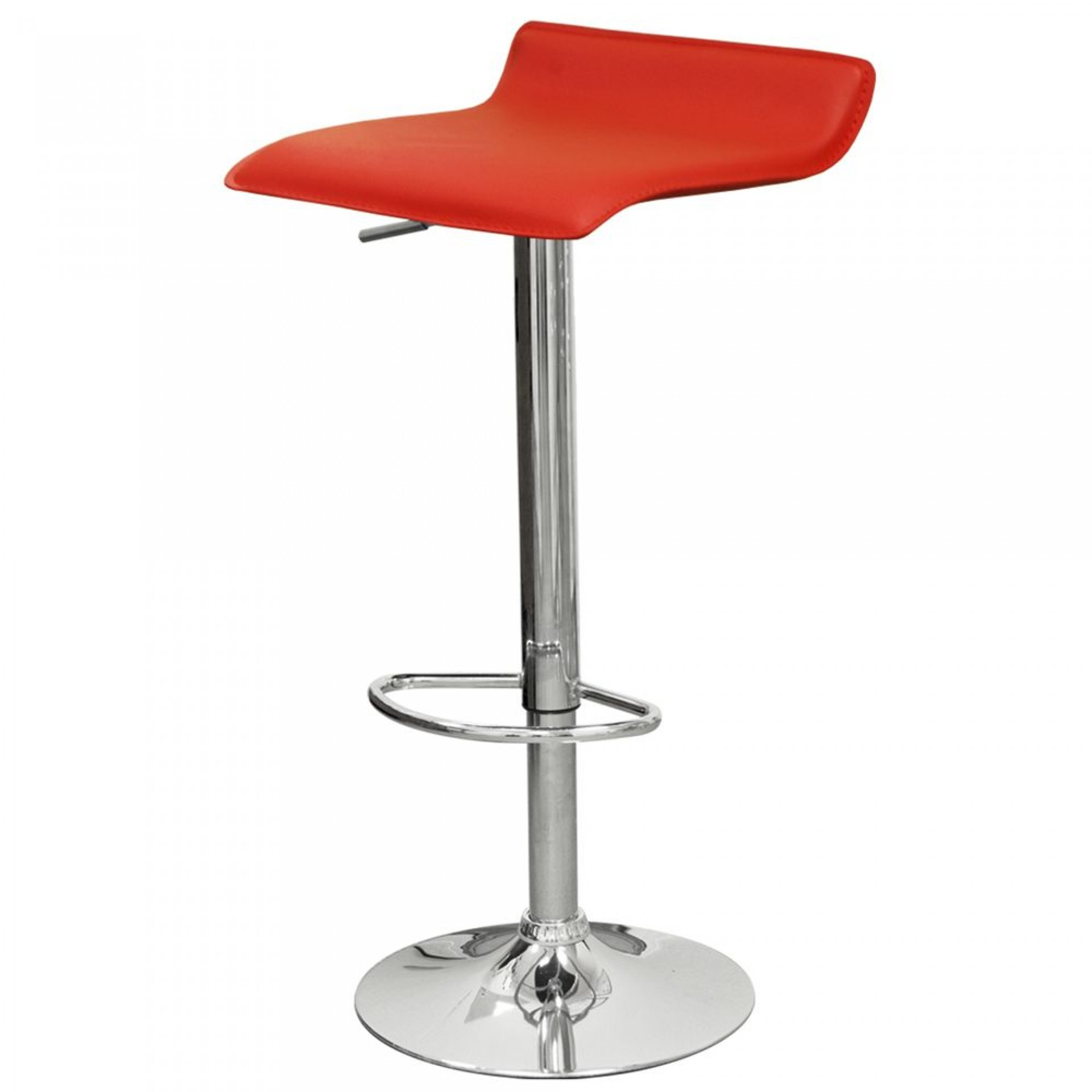 """Барный стул """"N-38 Latina"""" красная кожа"""