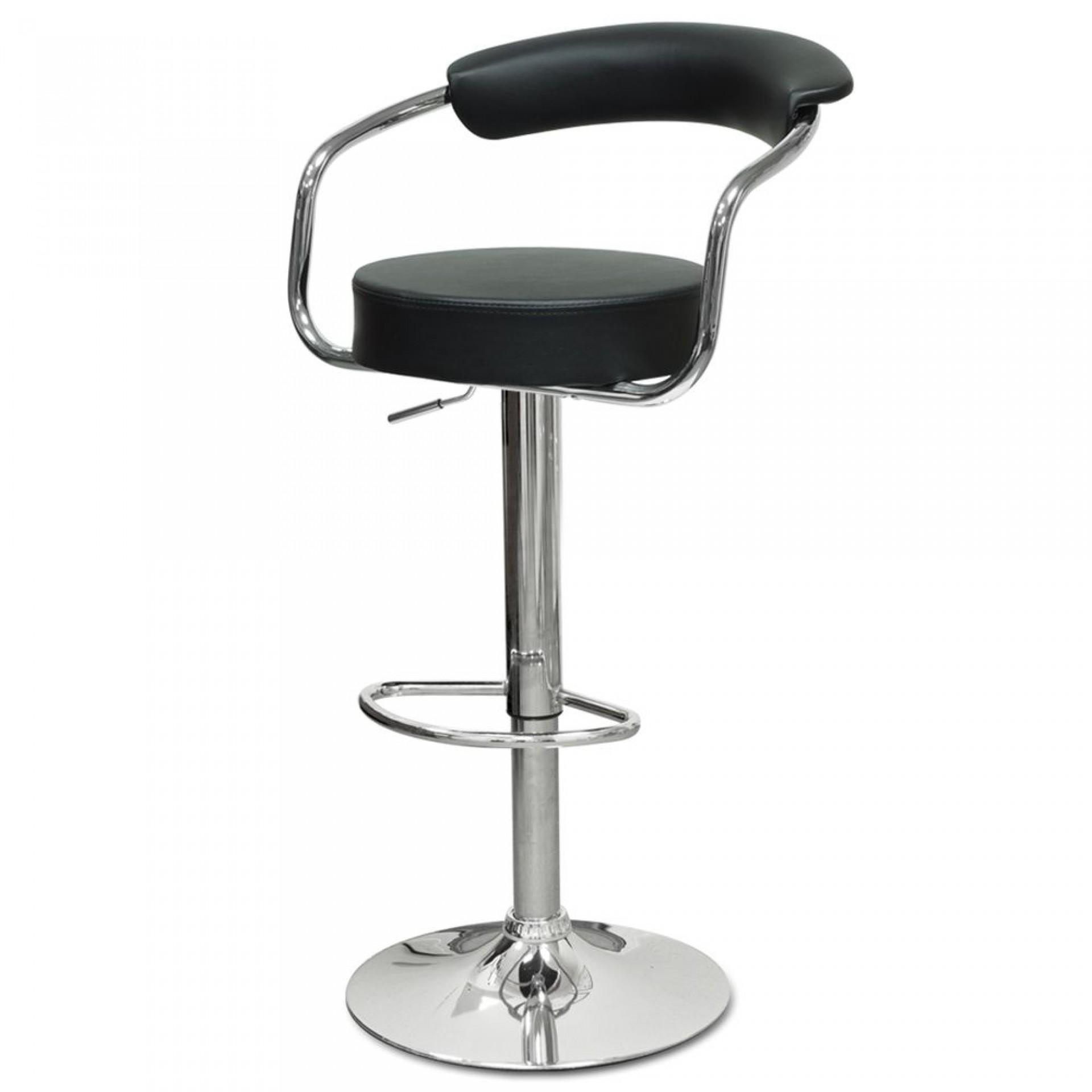"Барный стул ""N-91 Orion"" черная кожа"