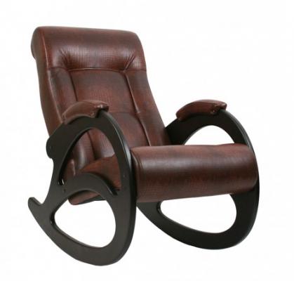 """Кресло-качалка """"Модель 4 б/л"""" венге/кофе"""
