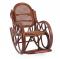 """Кресло-качалка """" Novo"""" с подушкой коньяк"""