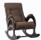 """Кресло-качалка """"Модель 44"""" венге/кофе"""